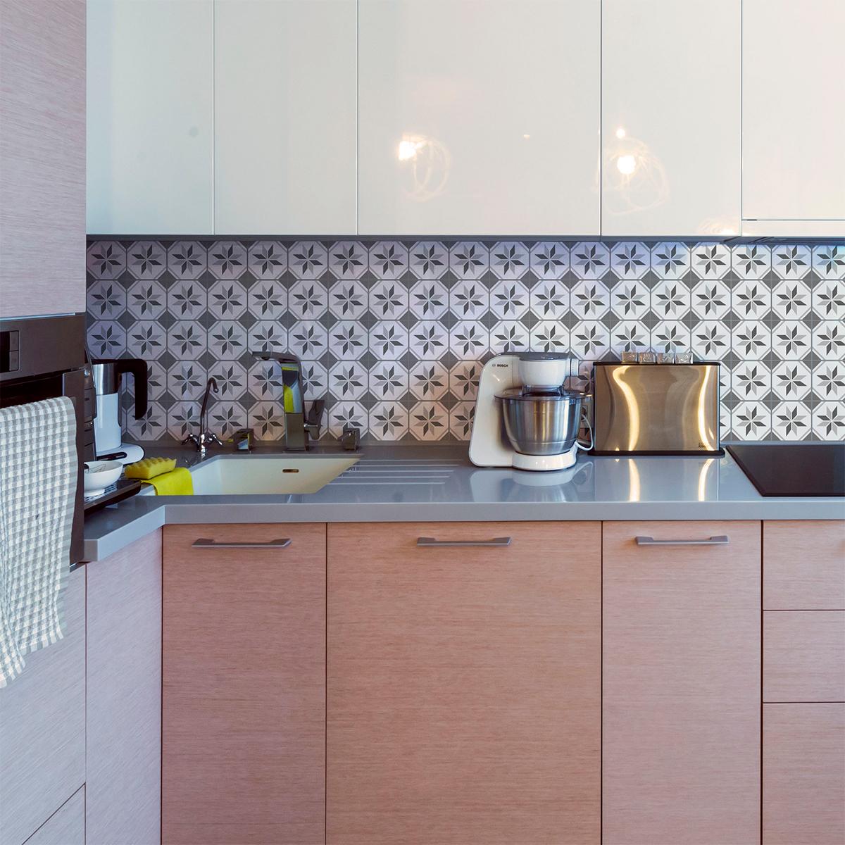 30 stickers carreaux de ciment azulejos isia cuisine. Black Bedroom Furniture Sets. Home Design Ideas