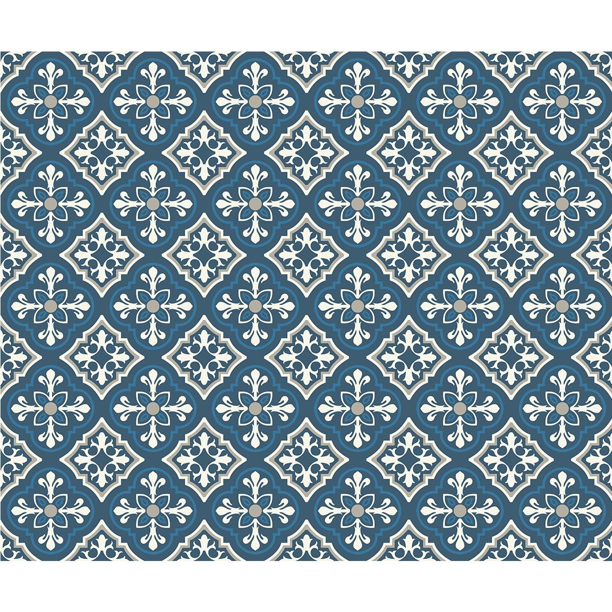 30 stickers carreaux de ciment azulejos lilya cuisine. Black Bedroom Furniture Sets. Home Design Ideas