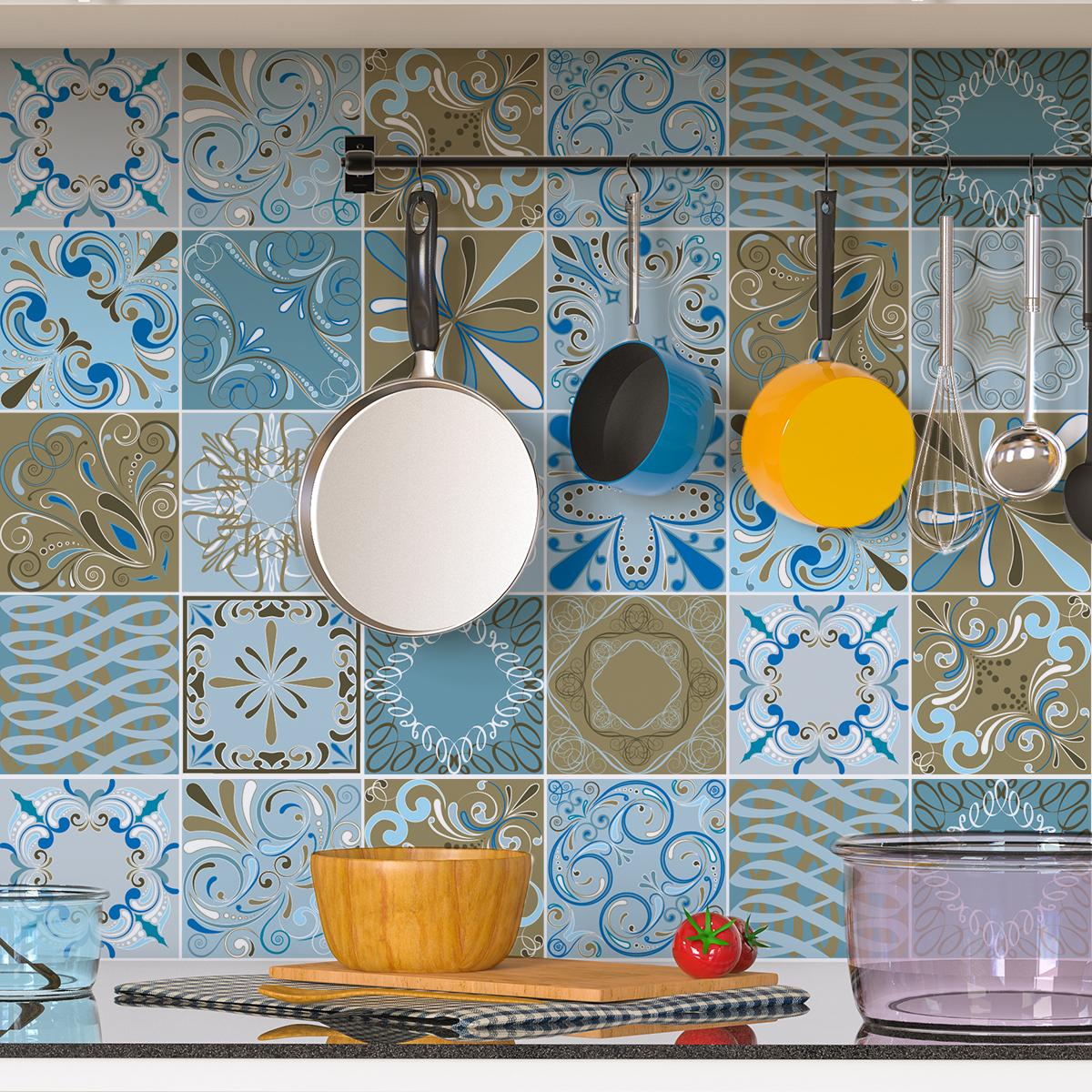 30 stickers carreaux de ciment azulejos melbourne. Black Bedroom Furniture Sets. Home Design Ideas