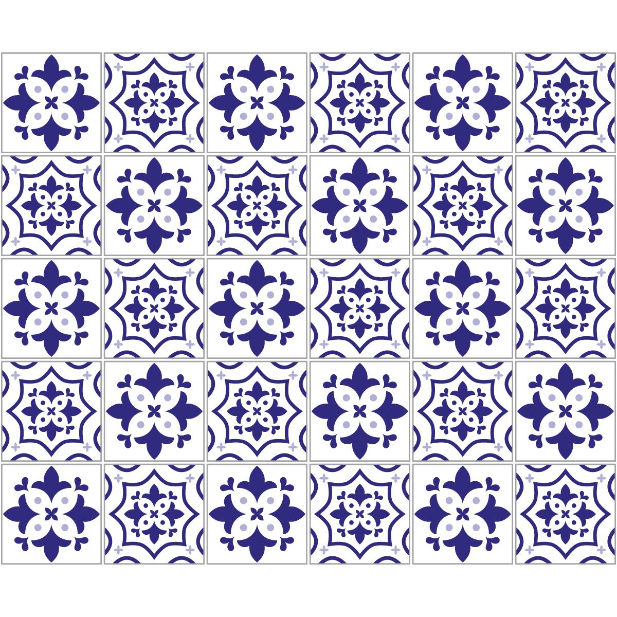 Accessoires Salle De Bain Azulejos ~ 30 stickers carreaux de ciment azulejos sancho salle de bain et wc