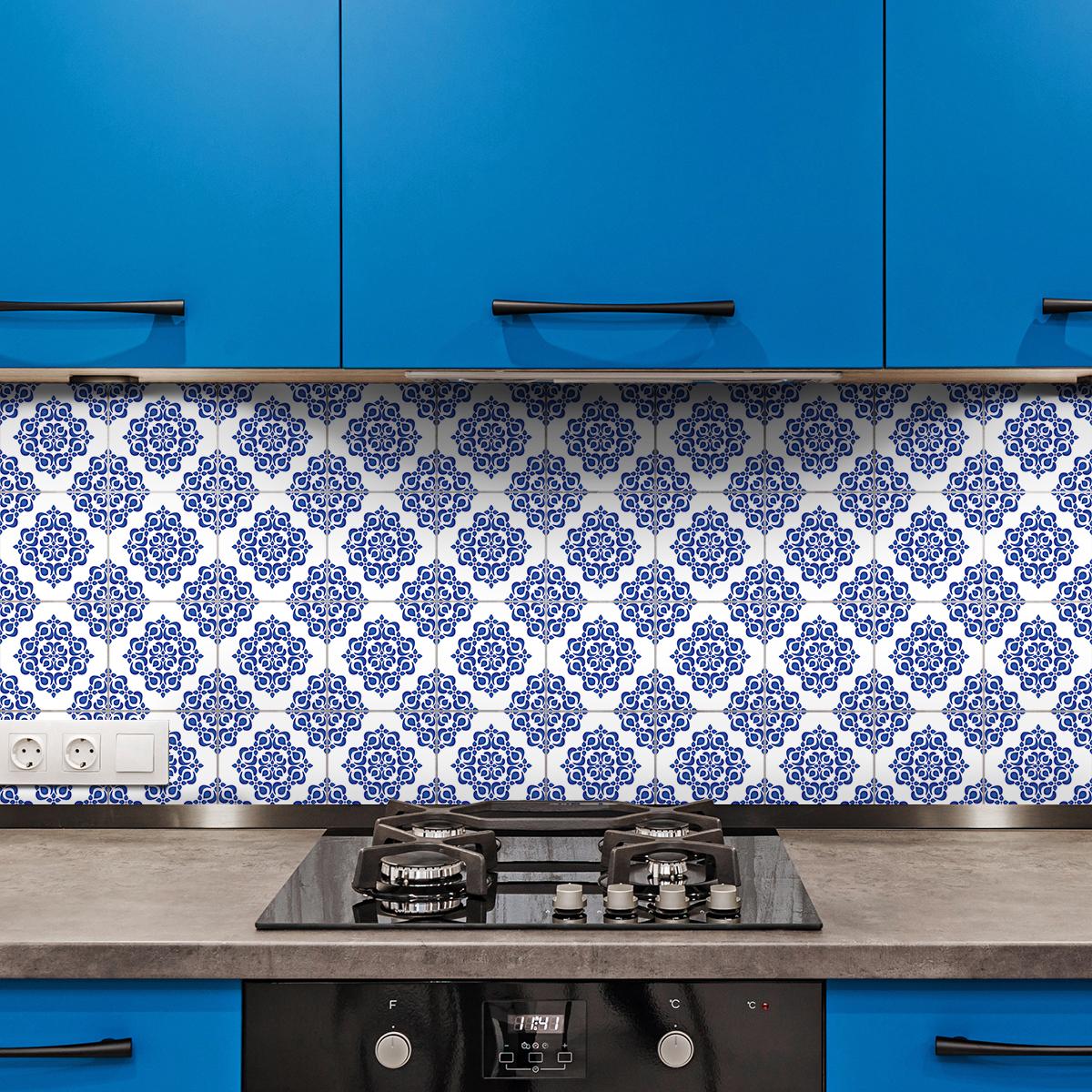 30 stickers carreaux de ciment boh me callia cuisine. Black Bedroom Furniture Sets. Home Design Ideas