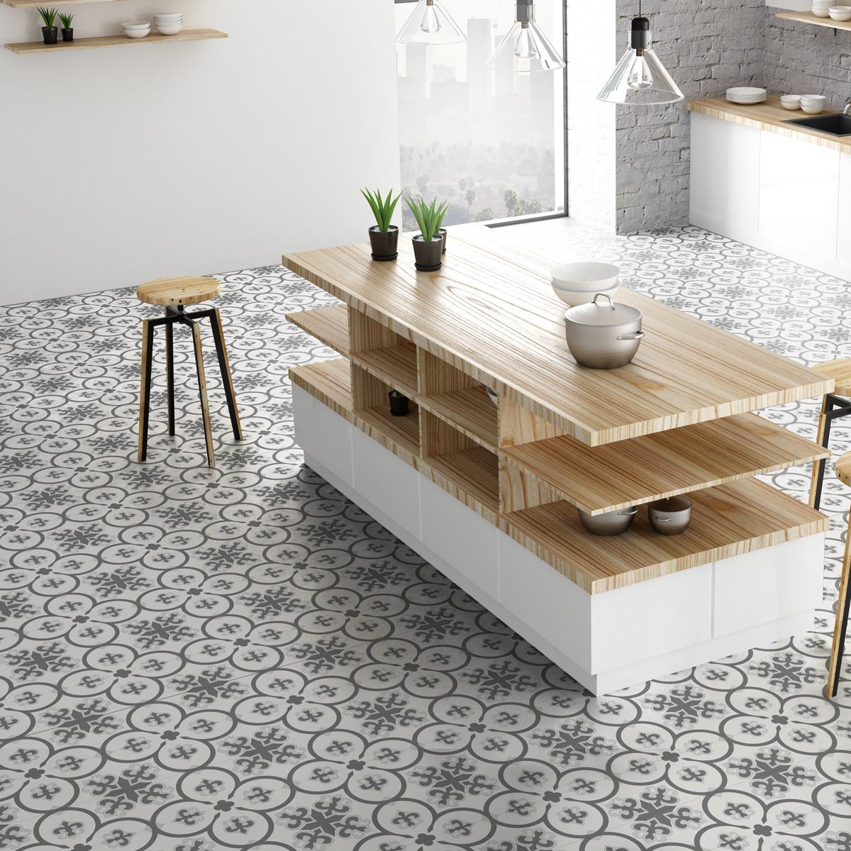 30 stickers carreaux de ciment boh me ixchel cuisine. Black Bedroom Furniture Sets. Home Design Ideas