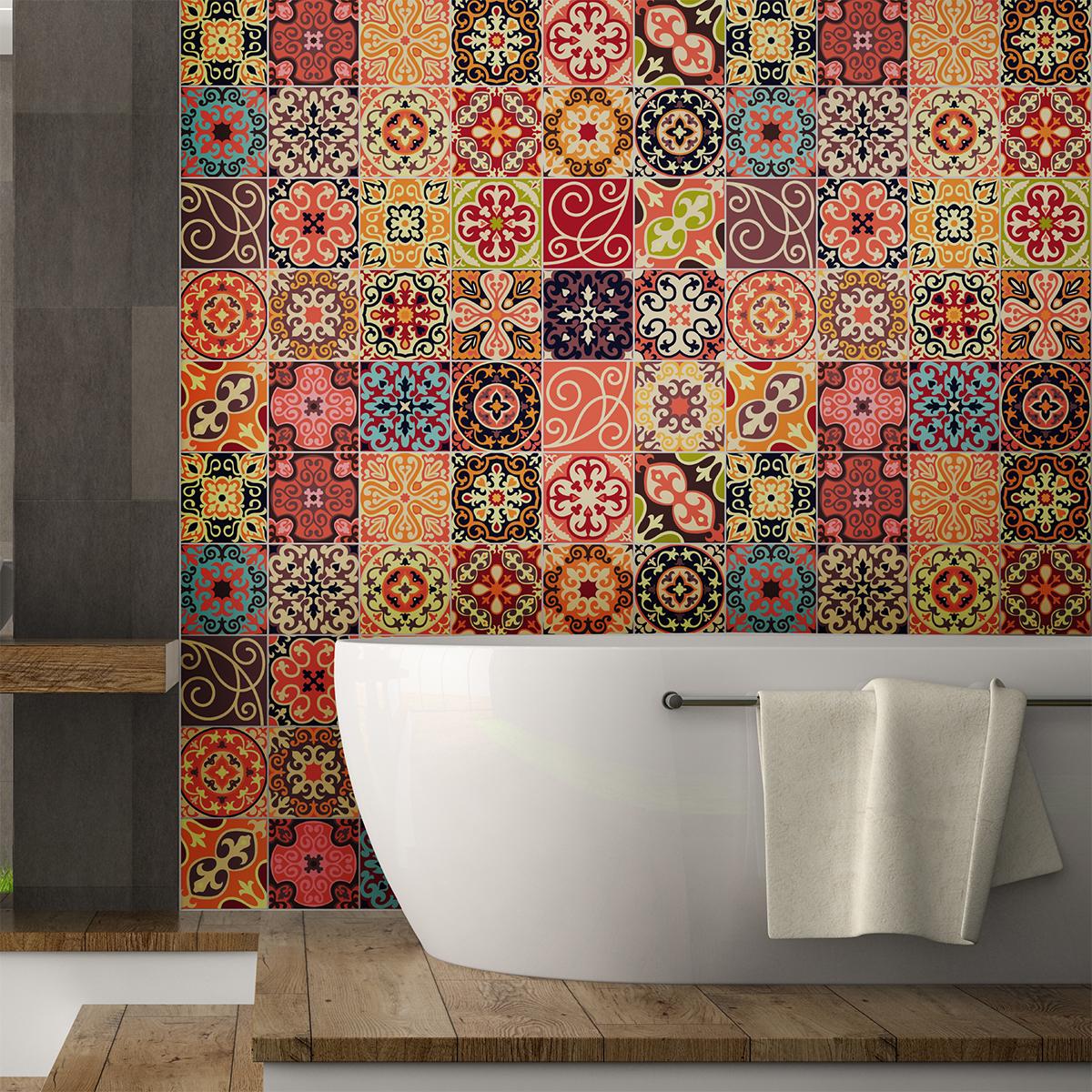 30 stickers carreaux de ciment la valette salle de bain et wc salle de bain ambiance sticker. Black Bedroom Furniture Sets. Home Design Ideas