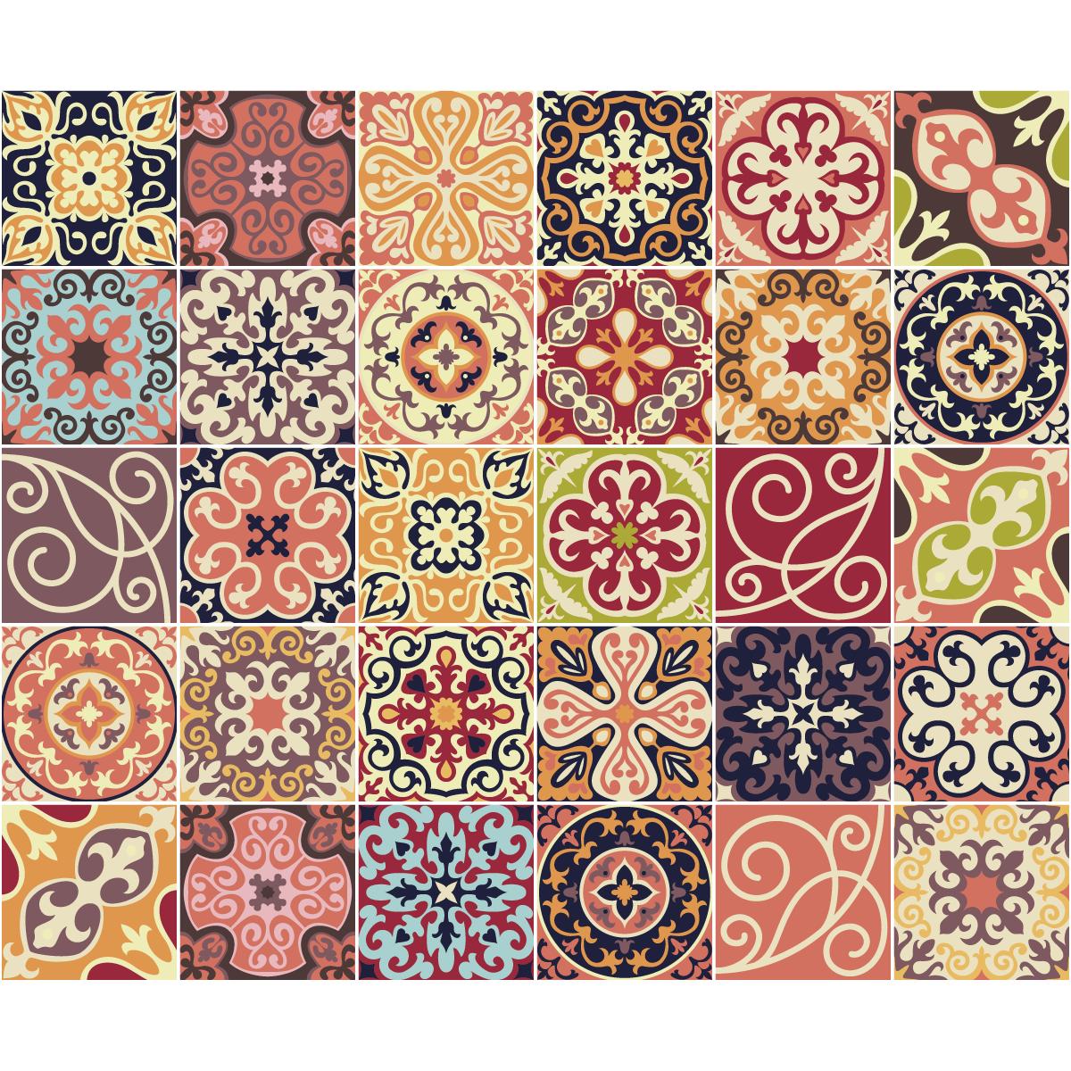 30 stickers carreaux de ciment la valette cuisine carrelages ambiance sticker for Comcuisine plus la valette