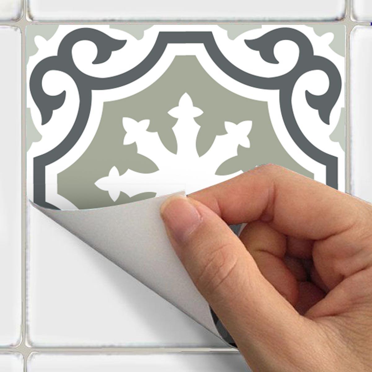 30 stickers carreaux de ciment nuances de gris oslo salle de bain et wc salle de bain. Black Bedroom Furniture Sets. Home Design Ideas