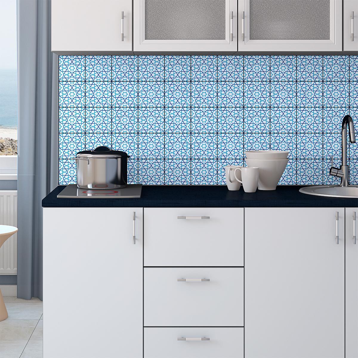 30 stickers carreaux de ciment oriental aden cuisine carrelages ambiance sticker. Black Bedroom Furniture Sets. Home Design Ideas