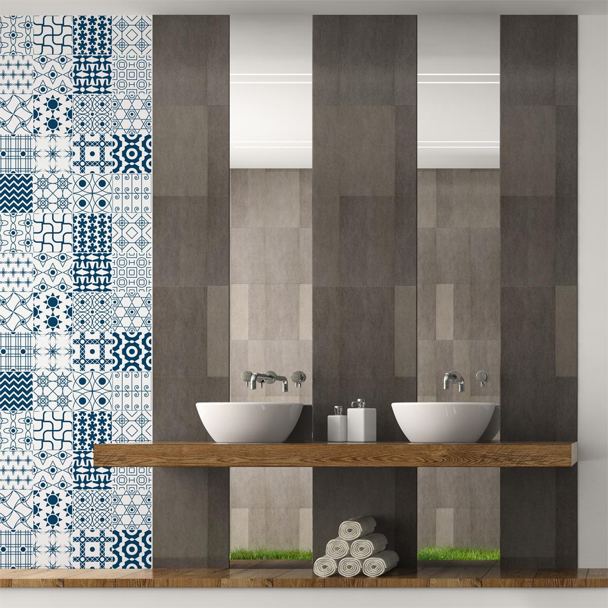 30 stickers carreaux de ciment scandinave ingred salle de bain et wc salle de bain ambiance. Black Bedroom Furniture Sets. Home Design Ideas