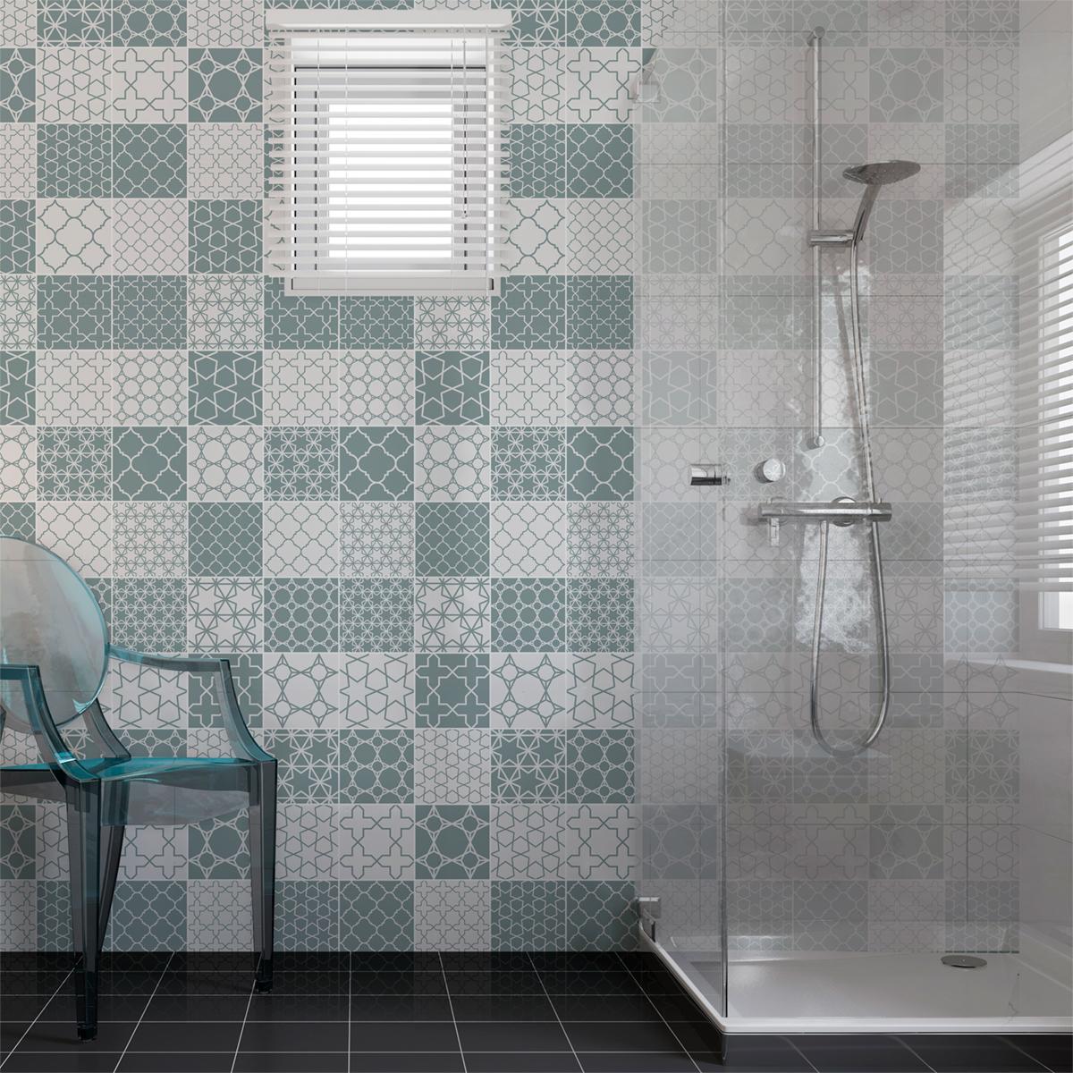 30 stickers carreaux de ciment scandinave skadi salle de bain et wc salle de bain ambiance. Black Bedroom Furniture Sets. Home Design Ideas