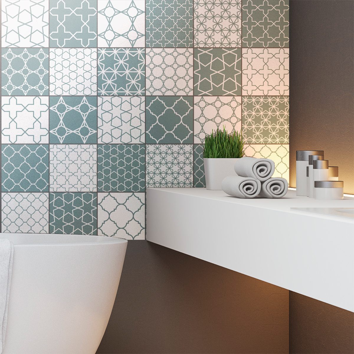 30 stickers carreaux de ciment scandinave skadi salle de bain et wc salle de bain ambiance. Black Bedroom Furniture Sets. Home Design Ideas