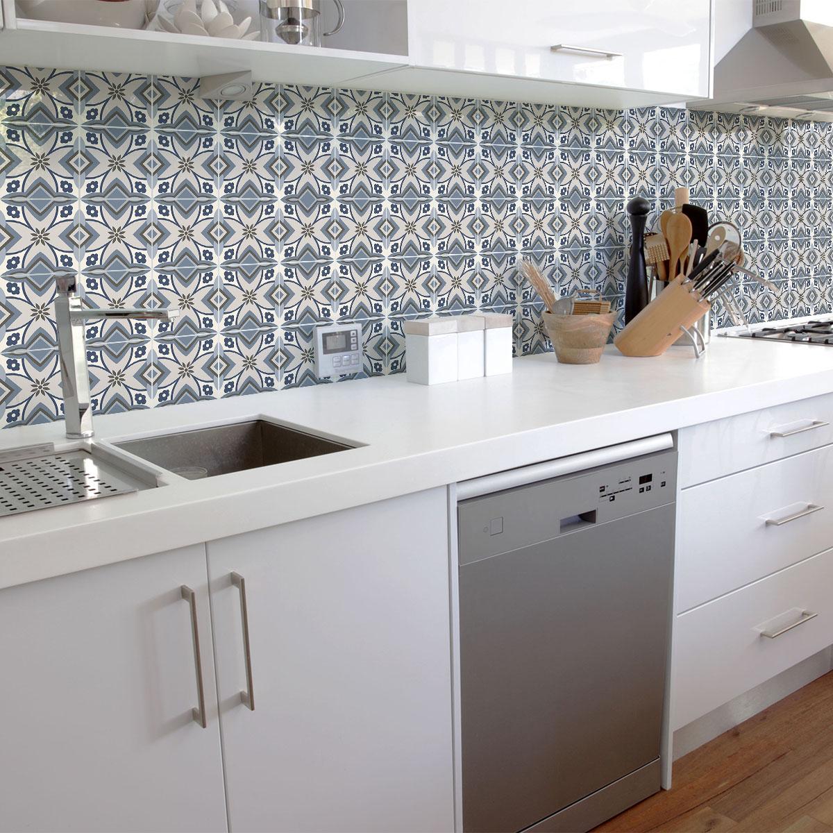 30 stickers carrelages azulejos aventino cuisine - Stickers cuisine carrelage ...
