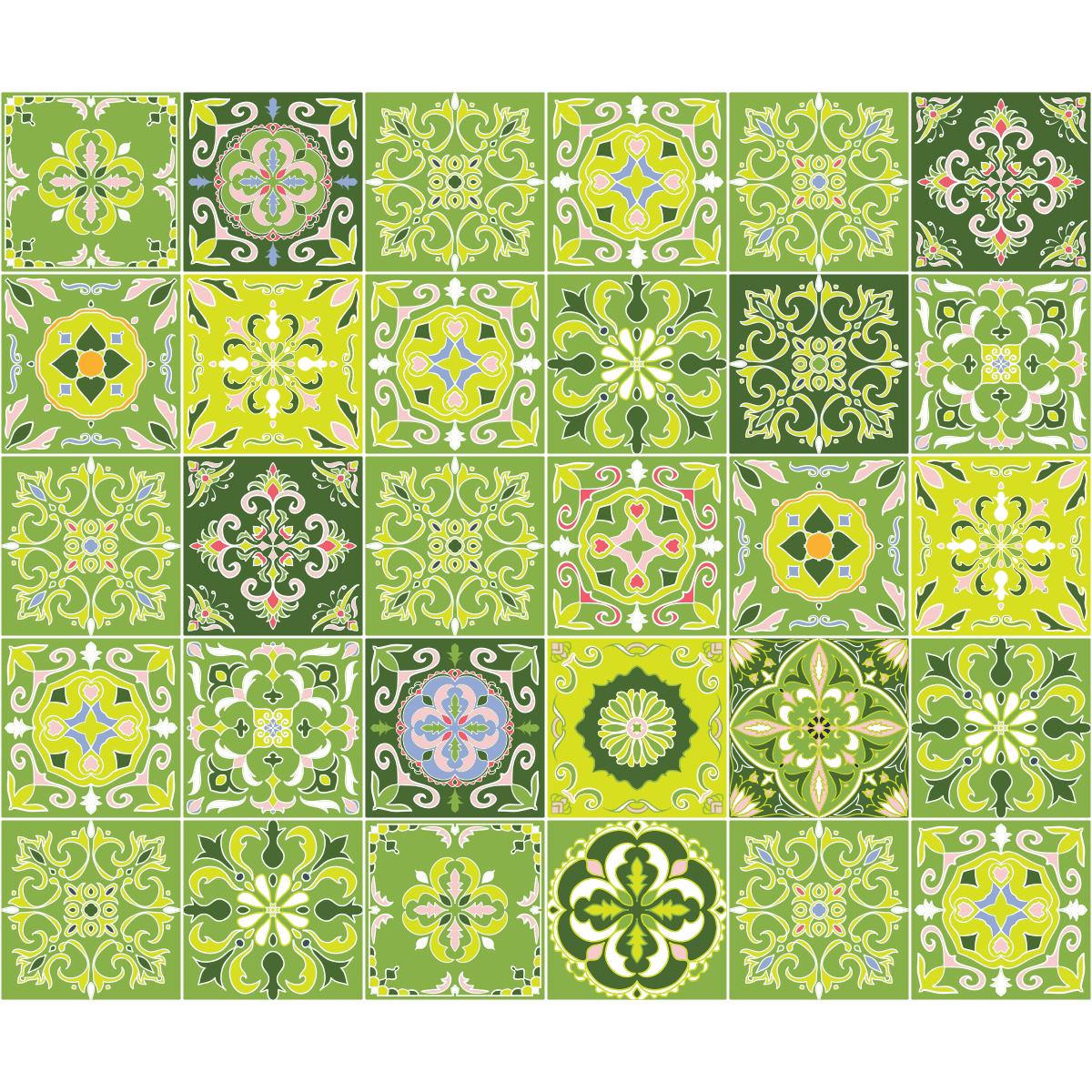 30 stickers carrelages azulejos bilbao art et design artistiques ambiance sticker. Black Bedroom Furniture Sets. Home Design Ideas
