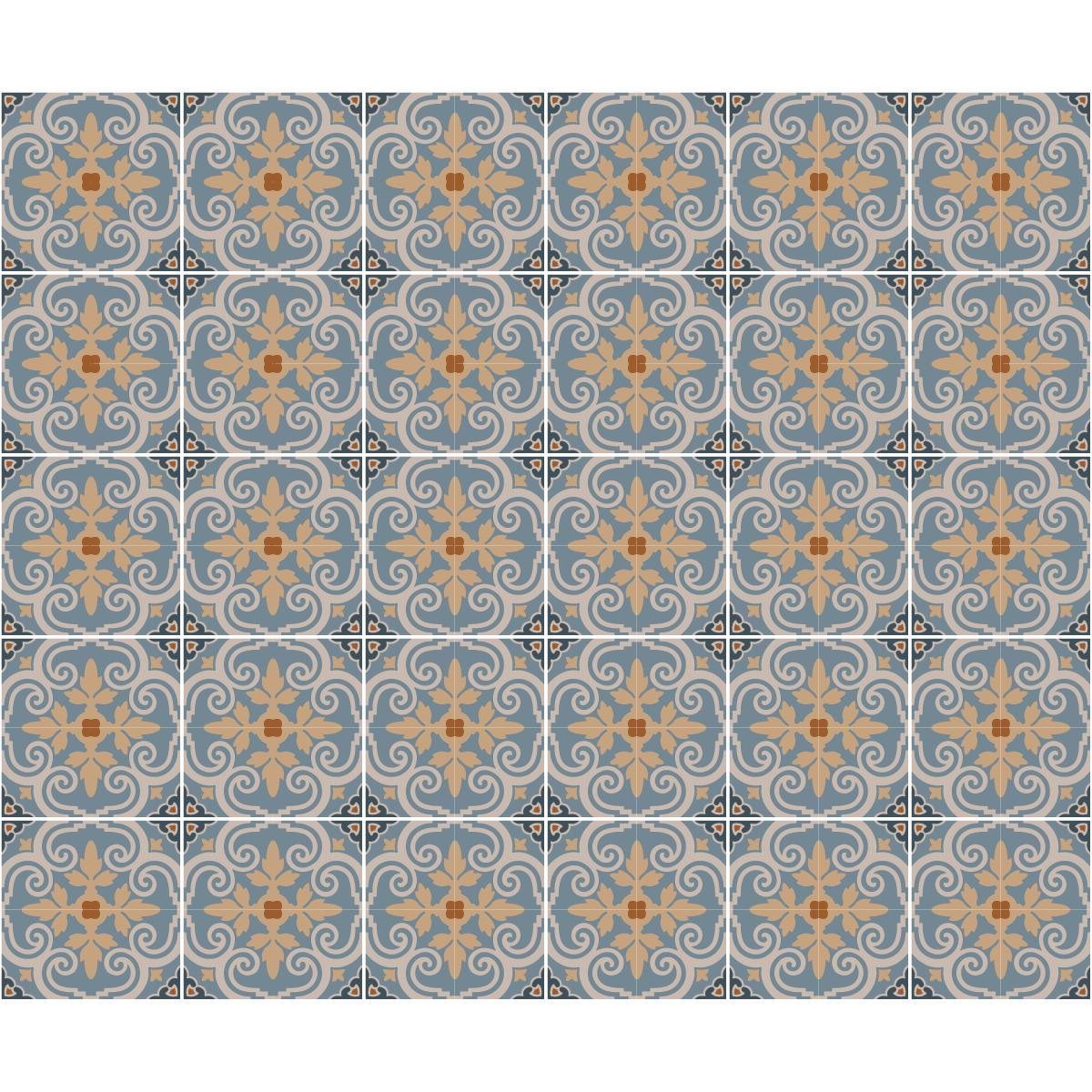 30 stickers carrelages azulejos ciriaco cuisine carrelages ambiance sticker. Black Bedroom Furniture Sets. Home Design Ideas