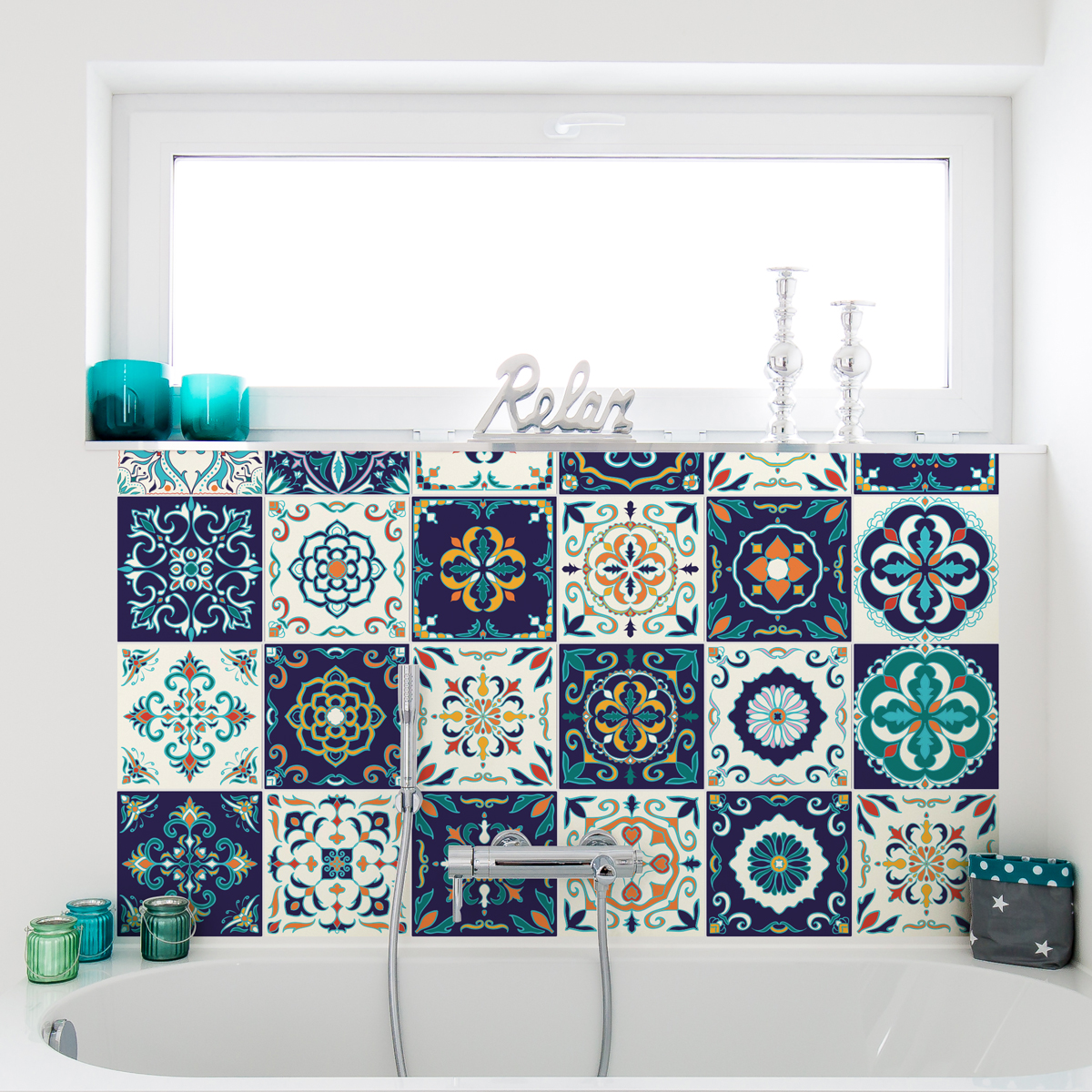 30 stickers carrelages azulejos forl cuisine carrelages ambiance sticker. Black Bedroom Furniture Sets. Home Design Ideas