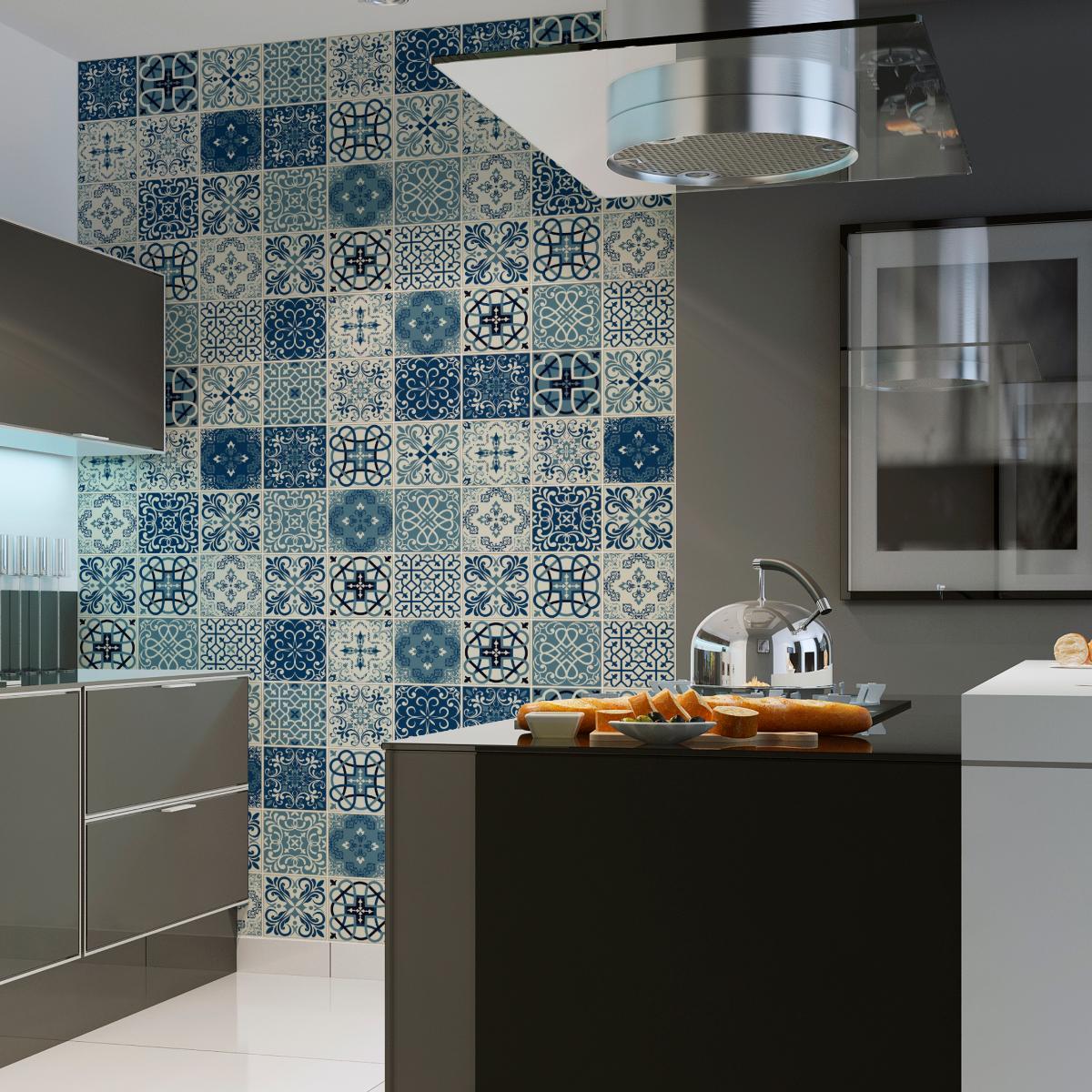 30 stickers carrelages azulejos horacio salle de bain et wc salle de bain ambiance sticker. Black Bedroom Furniture Sets. Home Design Ideas