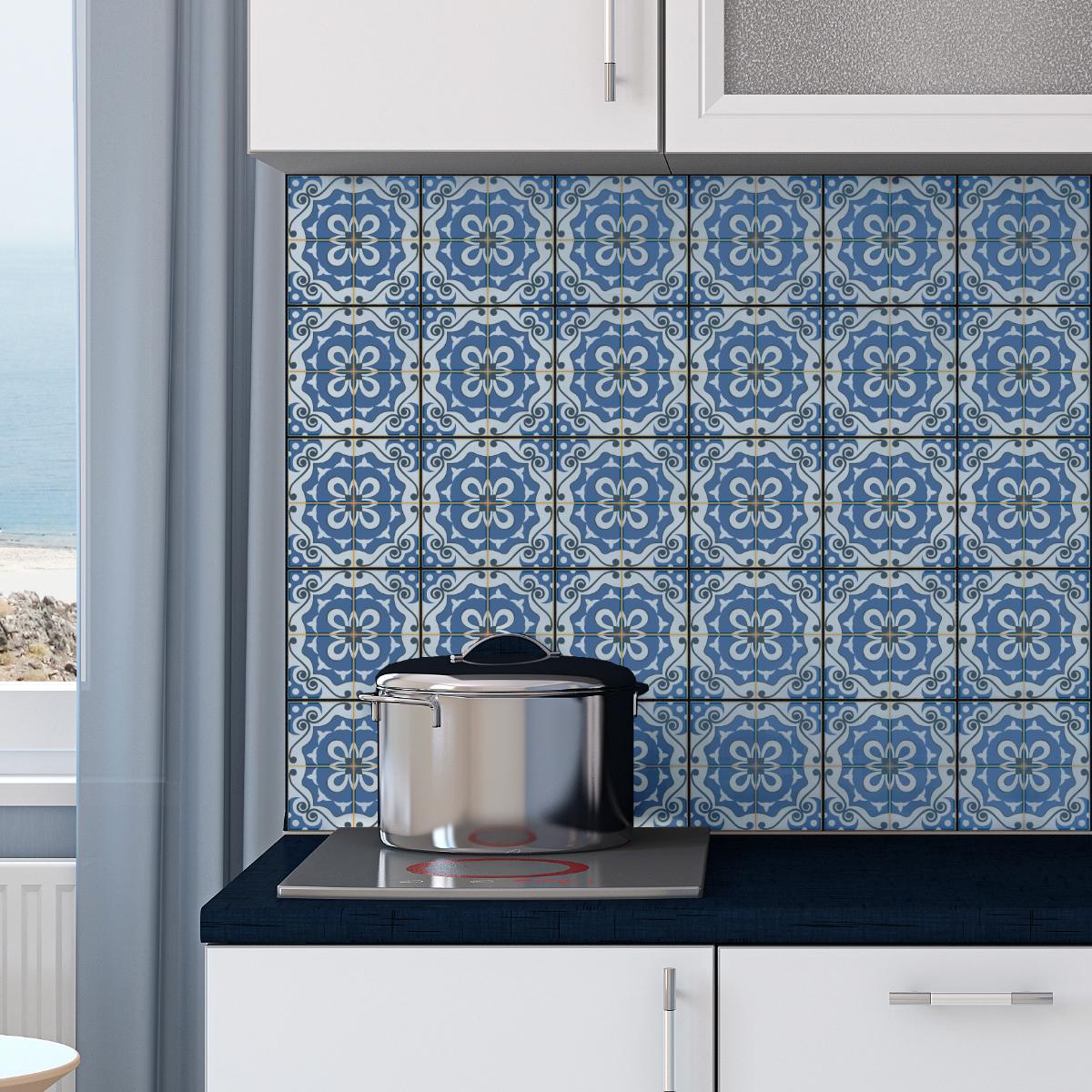 30 stickers carrelages azulejos imelda salle de bain et wc salle de bain ambiance sticker. Black Bedroom Furniture Sets. Home Design Ideas