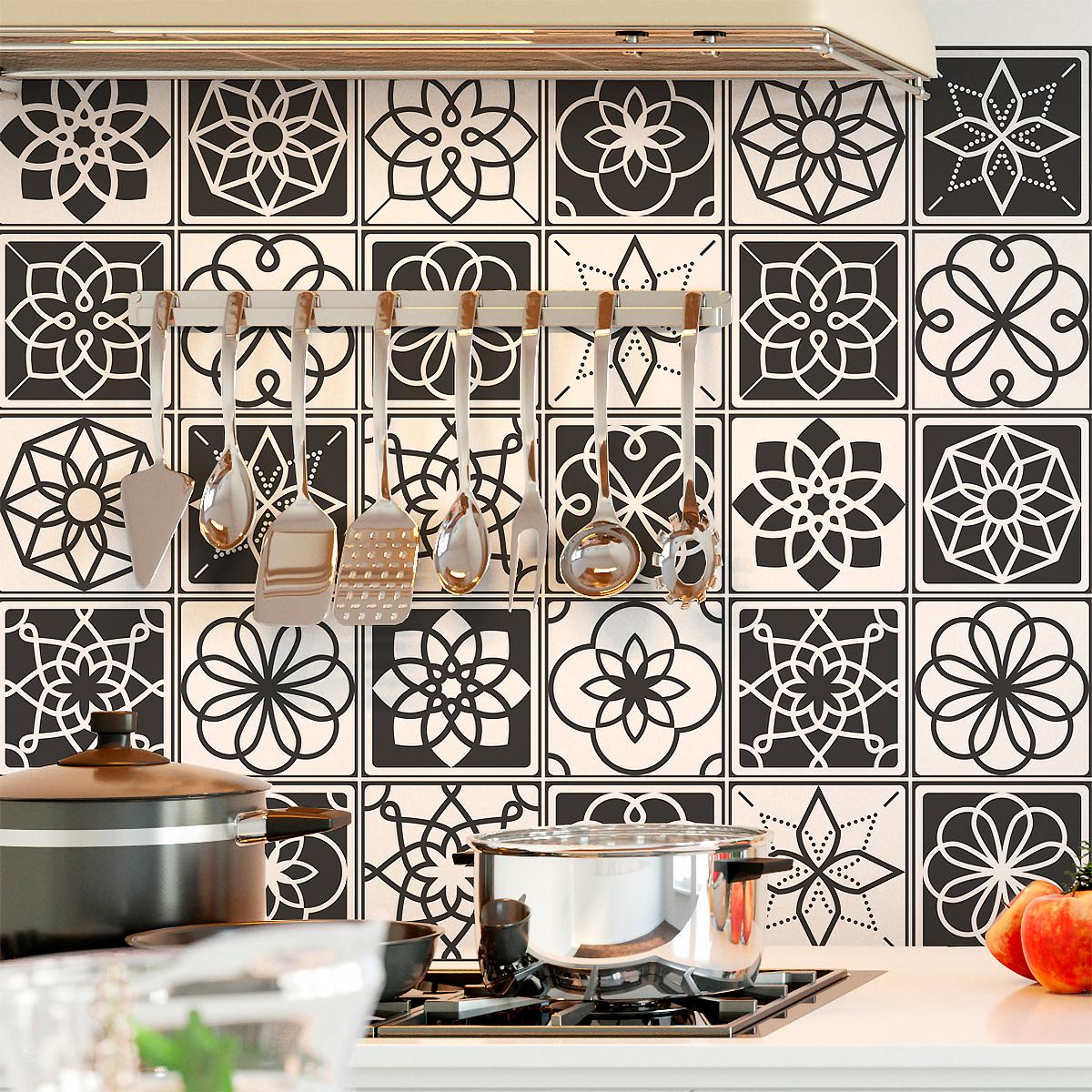 30 stickers carrelages azulejos lima cuisine carrelages ambiance sticker. Black Bedroom Furniture Sets. Home Design Ideas