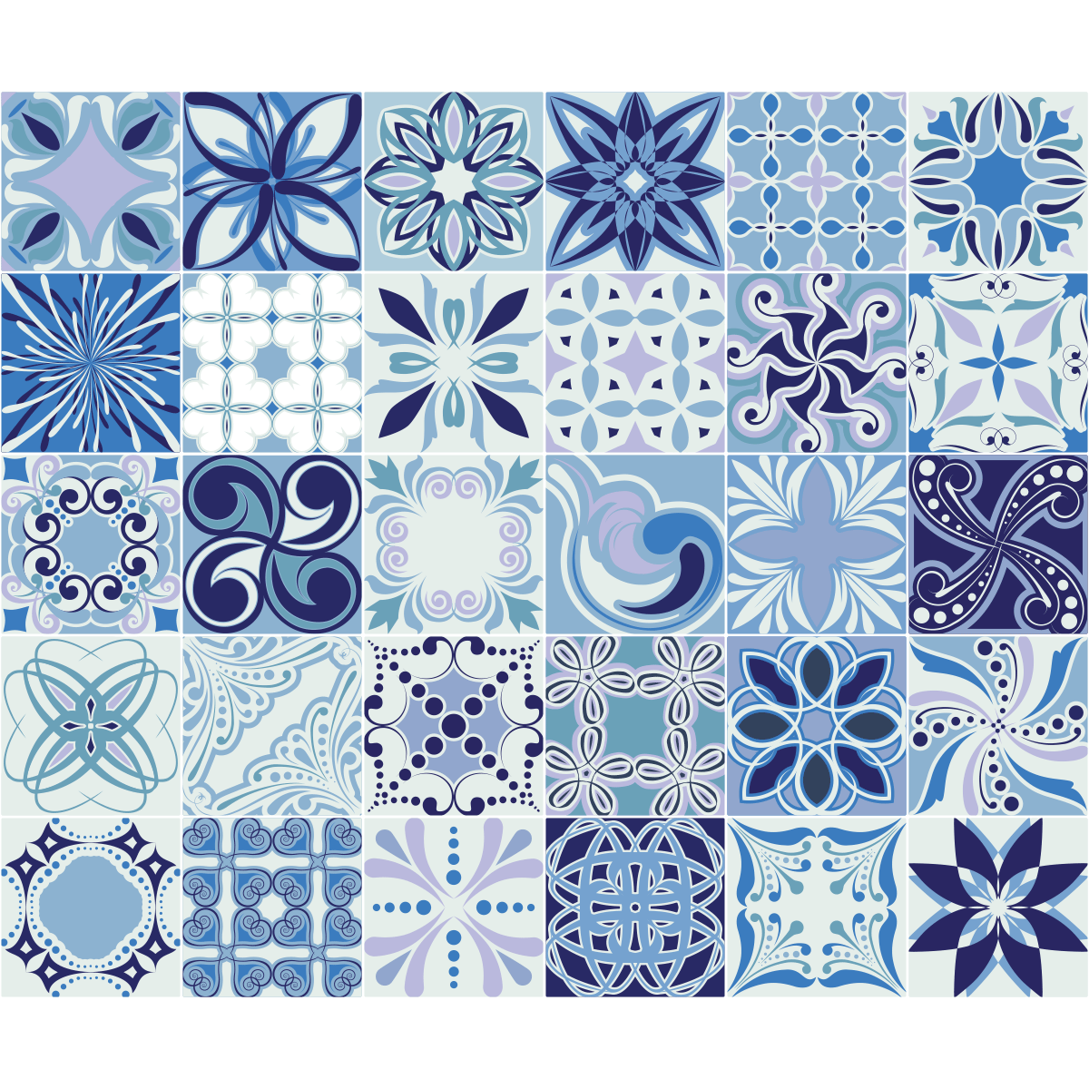 30 stickers carrelages azulejos mad re art et design. Black Bedroom Furniture Sets. Home Design Ideas