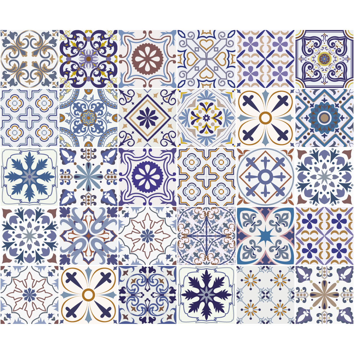 30 stickers carrelages azulejos riviera cuisine carrelages ambiance sticker. Black Bedroom Furniture Sets. Home Design Ideas