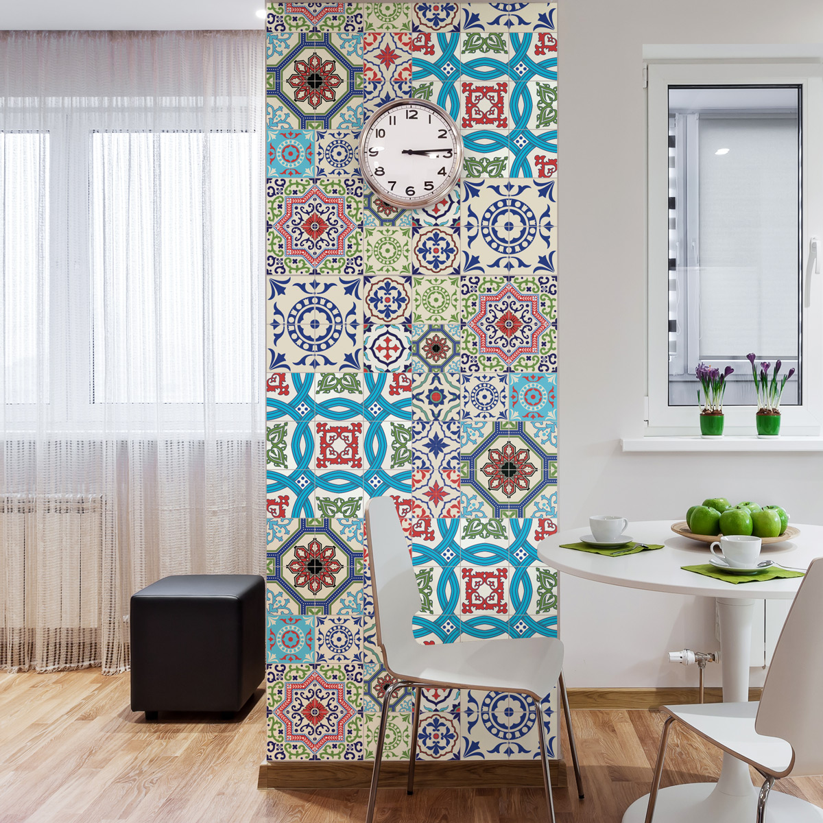 30 stickers carrelages azulejos salsa cuisine carrelages ambiance sticker. Black Bedroom Furniture Sets. Home Design Ideas