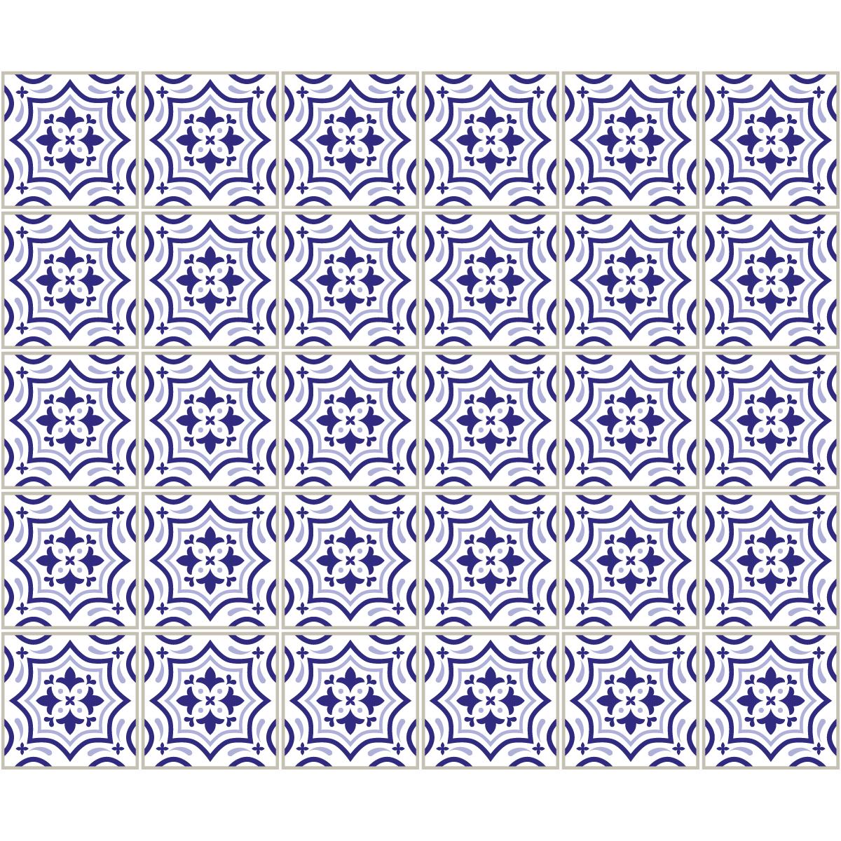 30 stickers carrelages azulejos teofilo salle de bain et. Black Bedroom Furniture Sets. Home Design Ideas