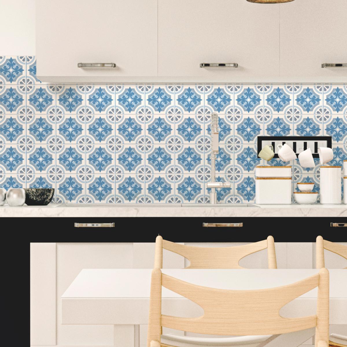 30 stickers carrelages azulejos tosca salle de bain mur salle de bain ambiance sticker. Black Bedroom Furniture Sets. Home Design Ideas