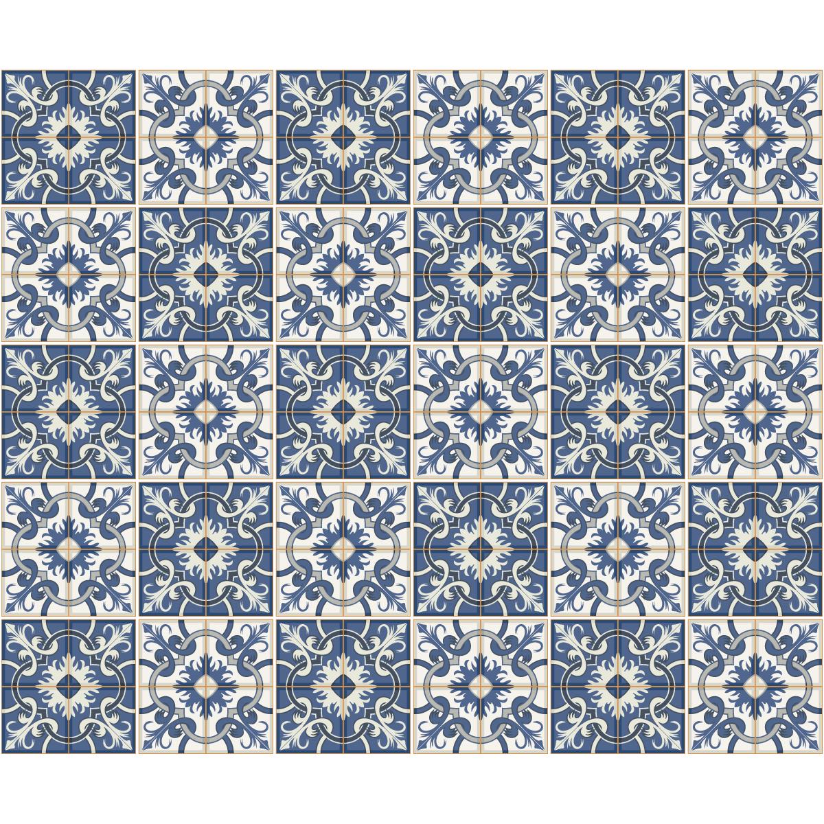 30 stickers carrelages azulejos valentino salle de bain et wc salle de bain ambiance sticker. Black Bedroom Furniture Sets. Home Design Ideas