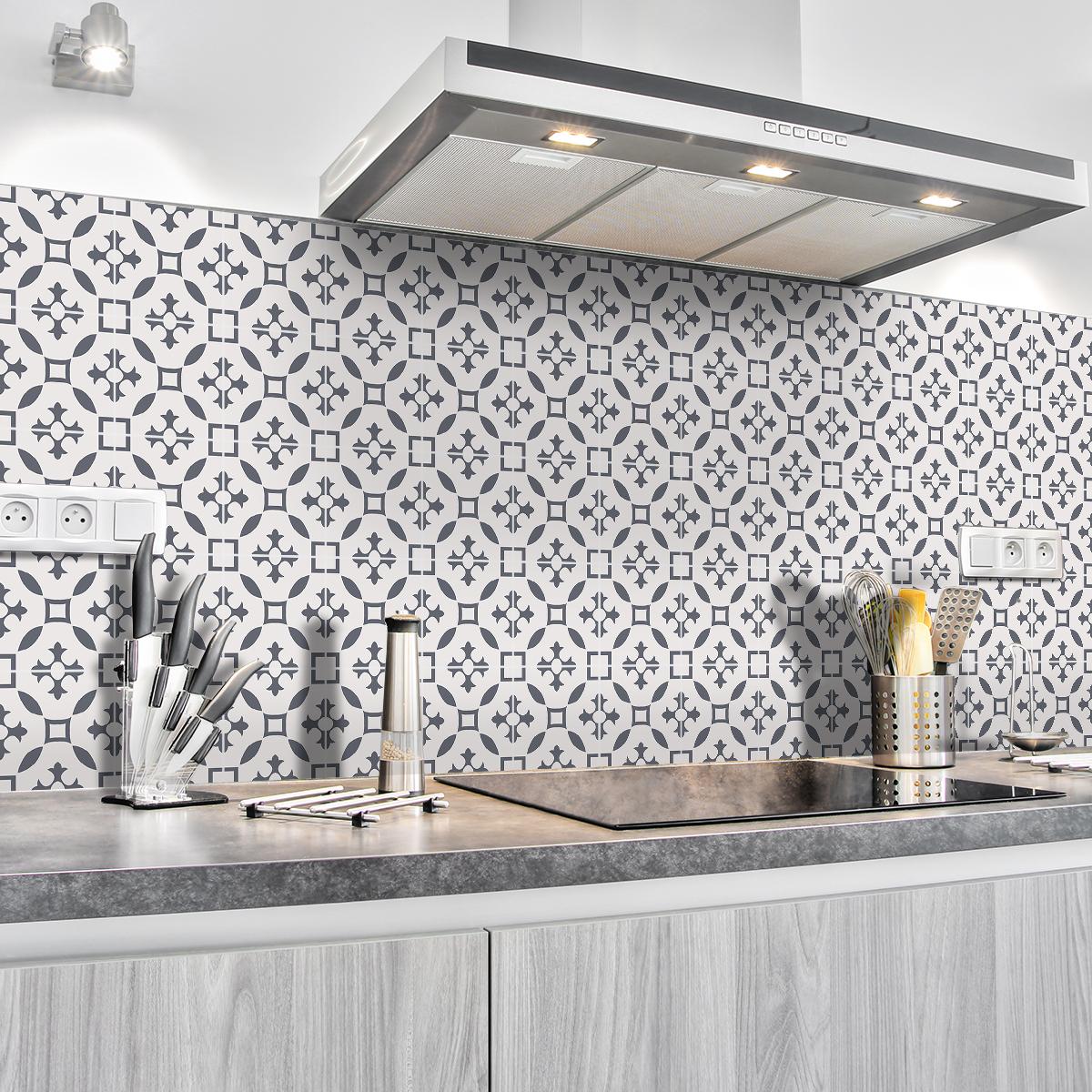 30 stickers carrelages azulejos yolanda cuisine - Stickers cuisine carrelage ...
