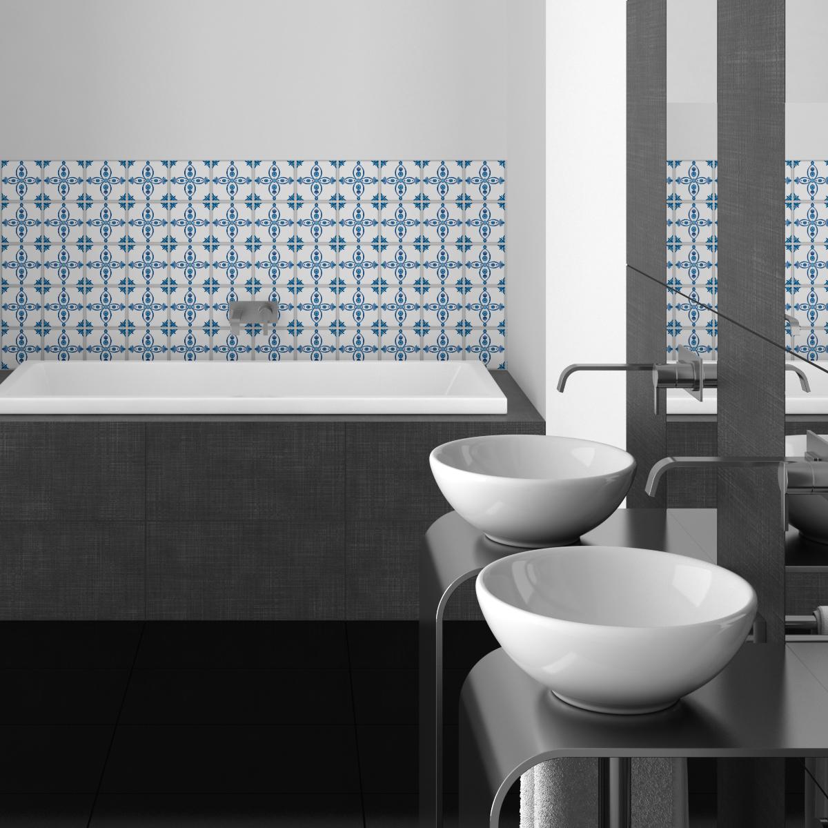 30 stickers carrelages delft amersfoort cuisine carrelages ambiance sticker. Black Bedroom Furniture Sets. Home Design Ideas