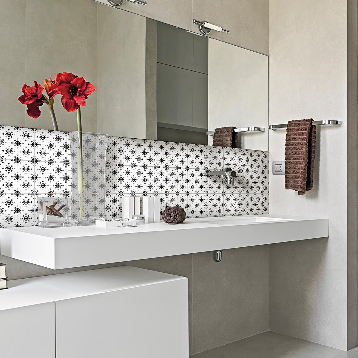 30 stickers carrelages ethnique kalemie cuisine. Black Bedroom Furniture Sets. Home Design Ideas