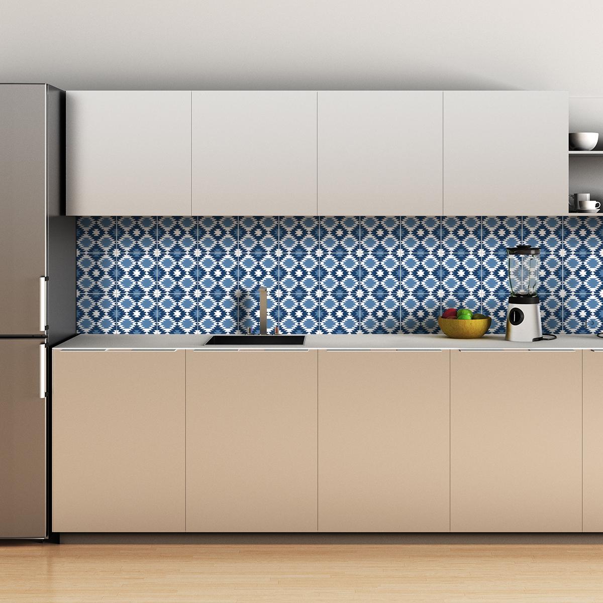 30 stickers carrelages ethnique mahala cuisine. Black Bedroom Furniture Sets. Home Design Ideas