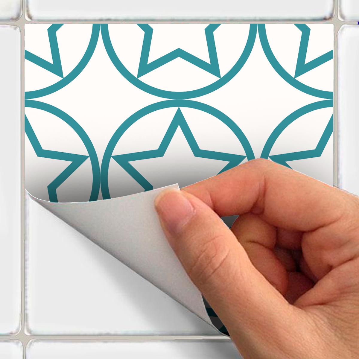 30 stickers carrelages scandinave cementplattor cuisine - Stickers cuisine carrelage ...