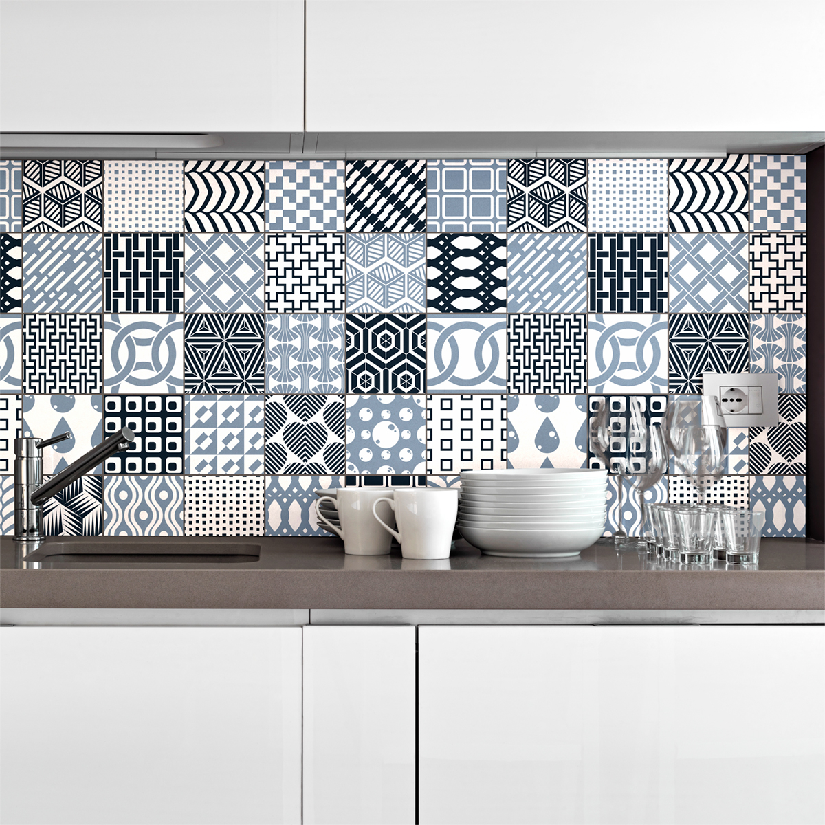 30 stickers carrelages scandinave helsingborg cuisine carrelages ambiance sticker. Black Bedroom Furniture Sets. Home Design Ideas
