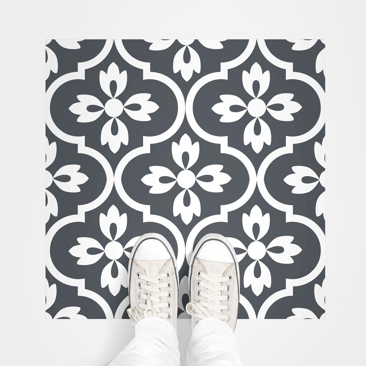 4 stickers sol carreaux de ciment modesto anti d rapant cuisine carrelages ambiance sticker. Black Bedroom Furniture Sets. Home Design Ideas