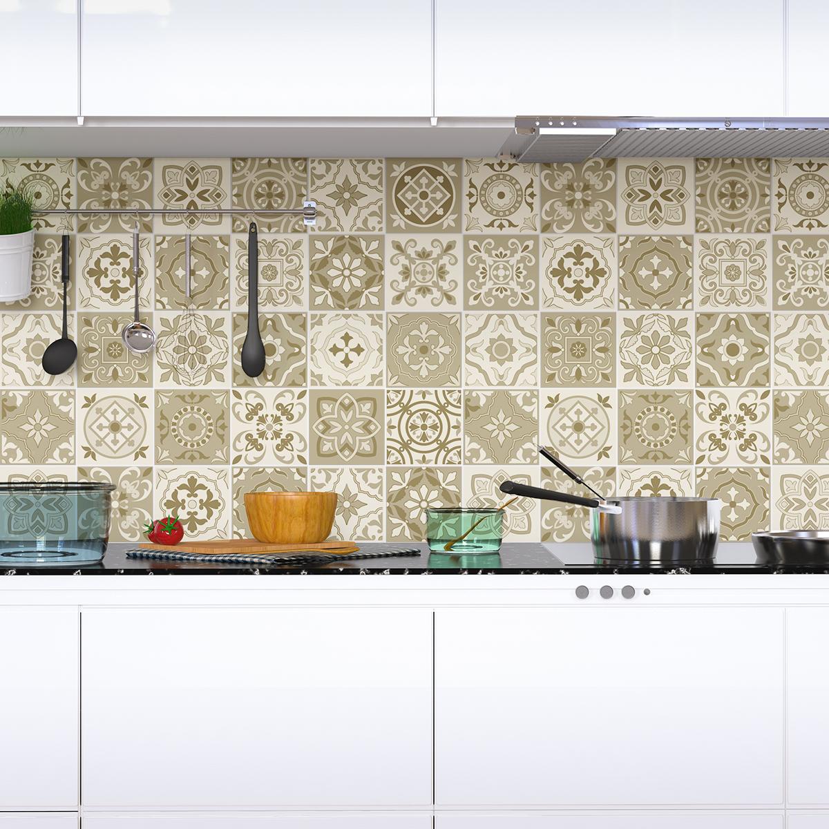 60 stickers carreaux de ciment azulejos fortunato. Black Bedroom Furniture Sets. Home Design Ideas