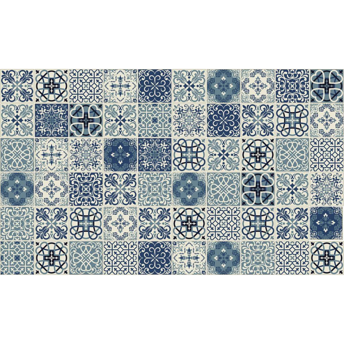 60 stickers carreaux de ciment azulejos gerardo salle de. Black Bedroom Furniture Sets. Home Design Ideas