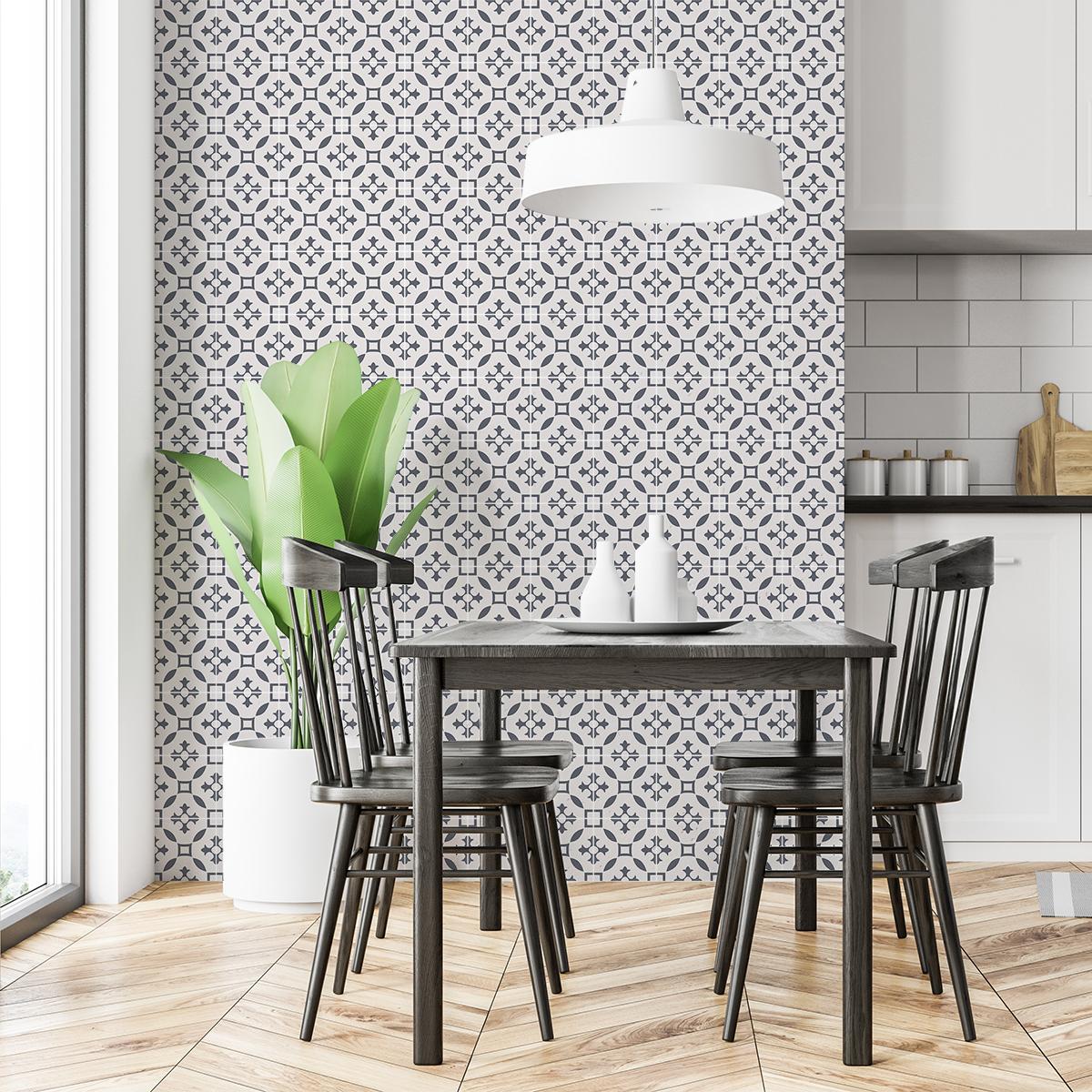 60 stickers carreaux de ciment azulejos l onina cuisine. Black Bedroom Furniture Sets. Home Design Ideas