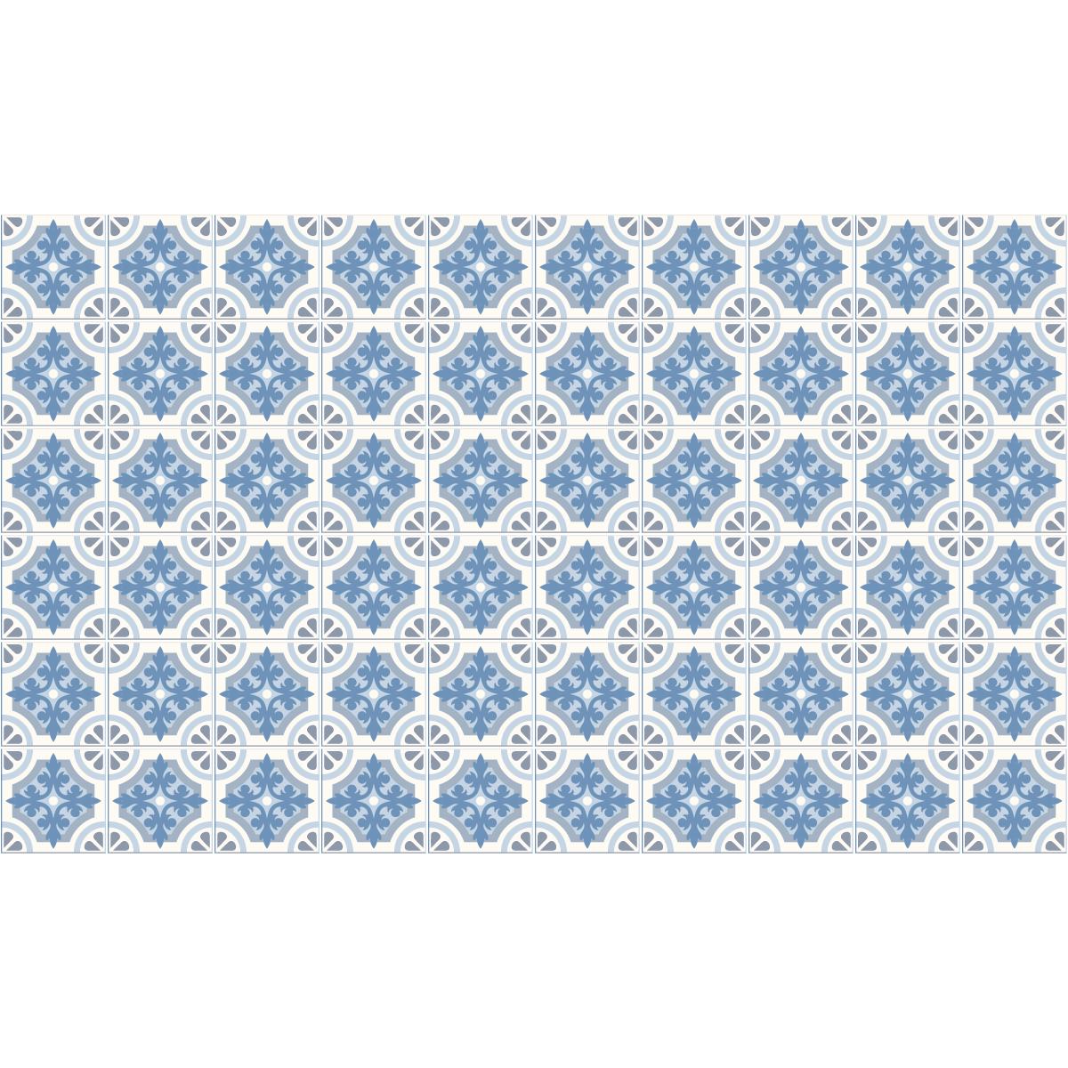 60 stickers carreaux de ciment azulejos mina salle de bain mur salle de bain ambiance sticker. Black Bedroom Furniture Sets. Home Design Ideas