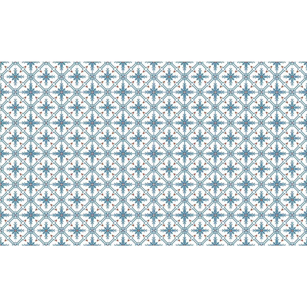 60 stickers carreaux de ciment azulejos paz cuisine. Black Bedroom Furniture Sets. Home Design Ideas