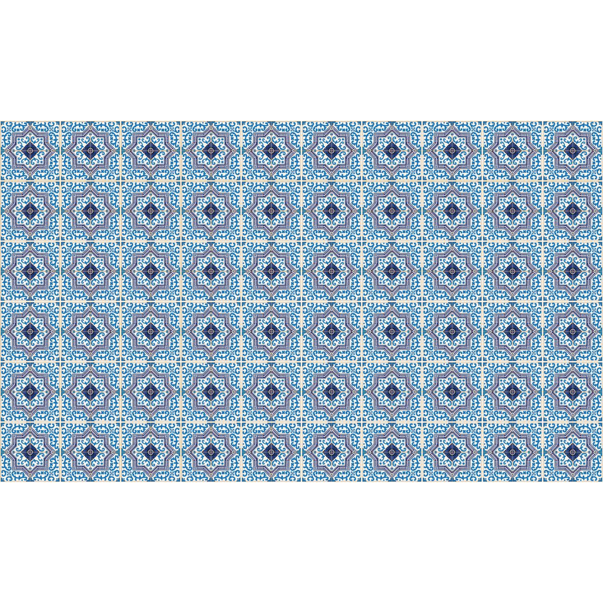 60 stickers carreaux de ciment azulejos romero salle de bain et wc salle de bain ambiance. Black Bedroom Furniture Sets. Home Design Ideas