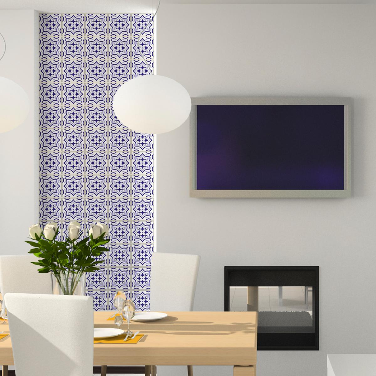 60 stickers carreaux de ciment azulejos urraca salle de bain et wc salle de bain ambiance. Black Bedroom Furniture Sets. Home Design Ideas