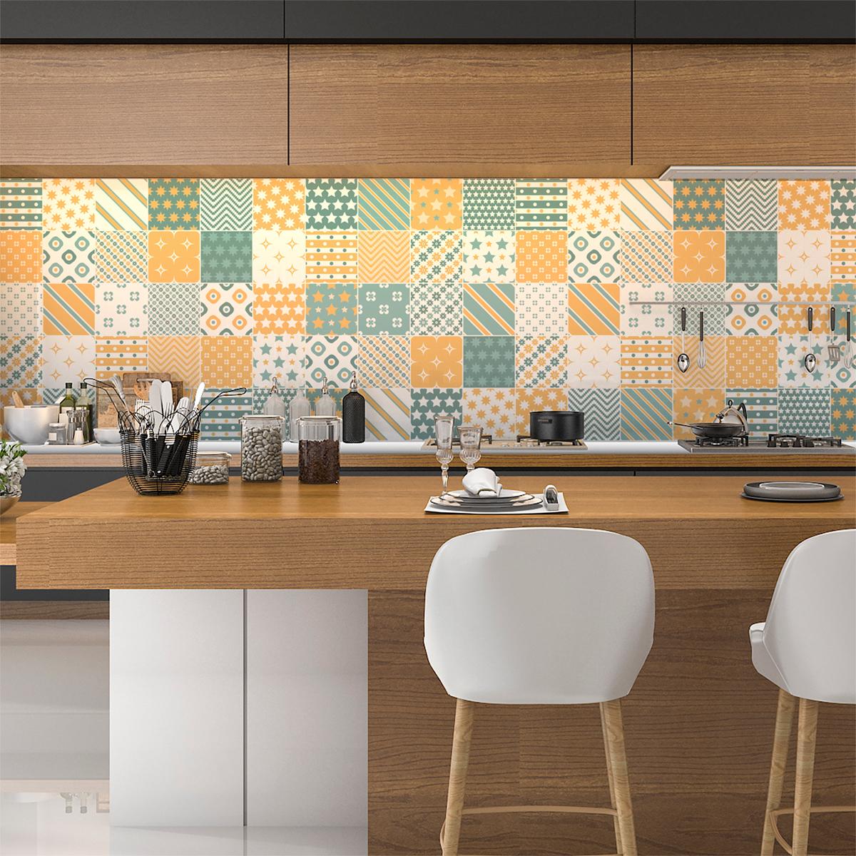 60 stickers carreaux de ciment dagmar salle de bain et wc salle de bain ambiance sticker. Black Bedroom Furniture Sets. Home Design Ideas