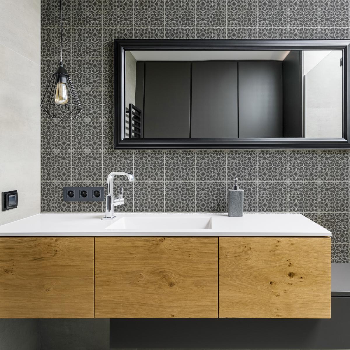 60 stickers carreaux de ciment oriental jerada cuisine. Black Bedroom Furniture Sets. Home Design Ideas