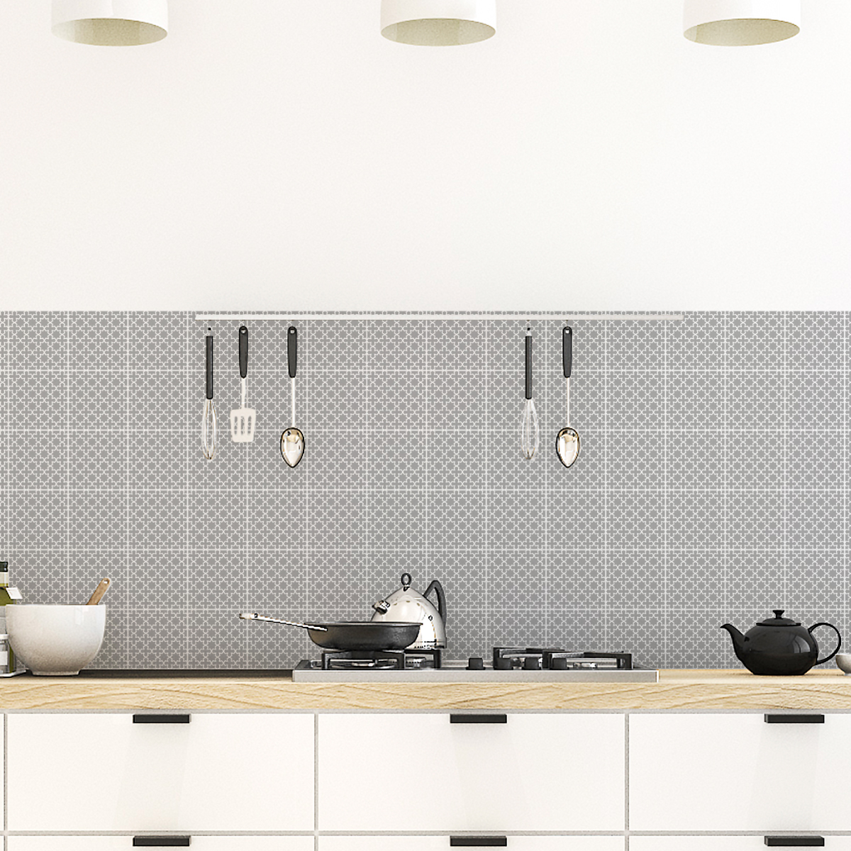 60 stickers carreaux de ciment oriental moknine cuisine. Black Bedroom Furniture Sets. Home Design Ideas