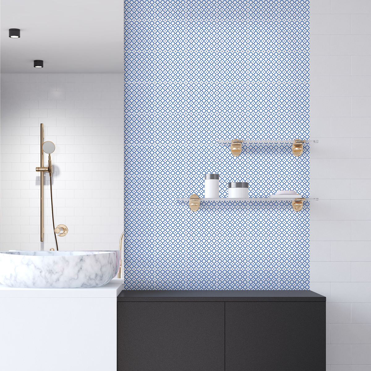 Salle De Bain Aqualys ~ 60 Stickers Carreaux De Ciment Oriental Zarzis Cuisine Carrelages
