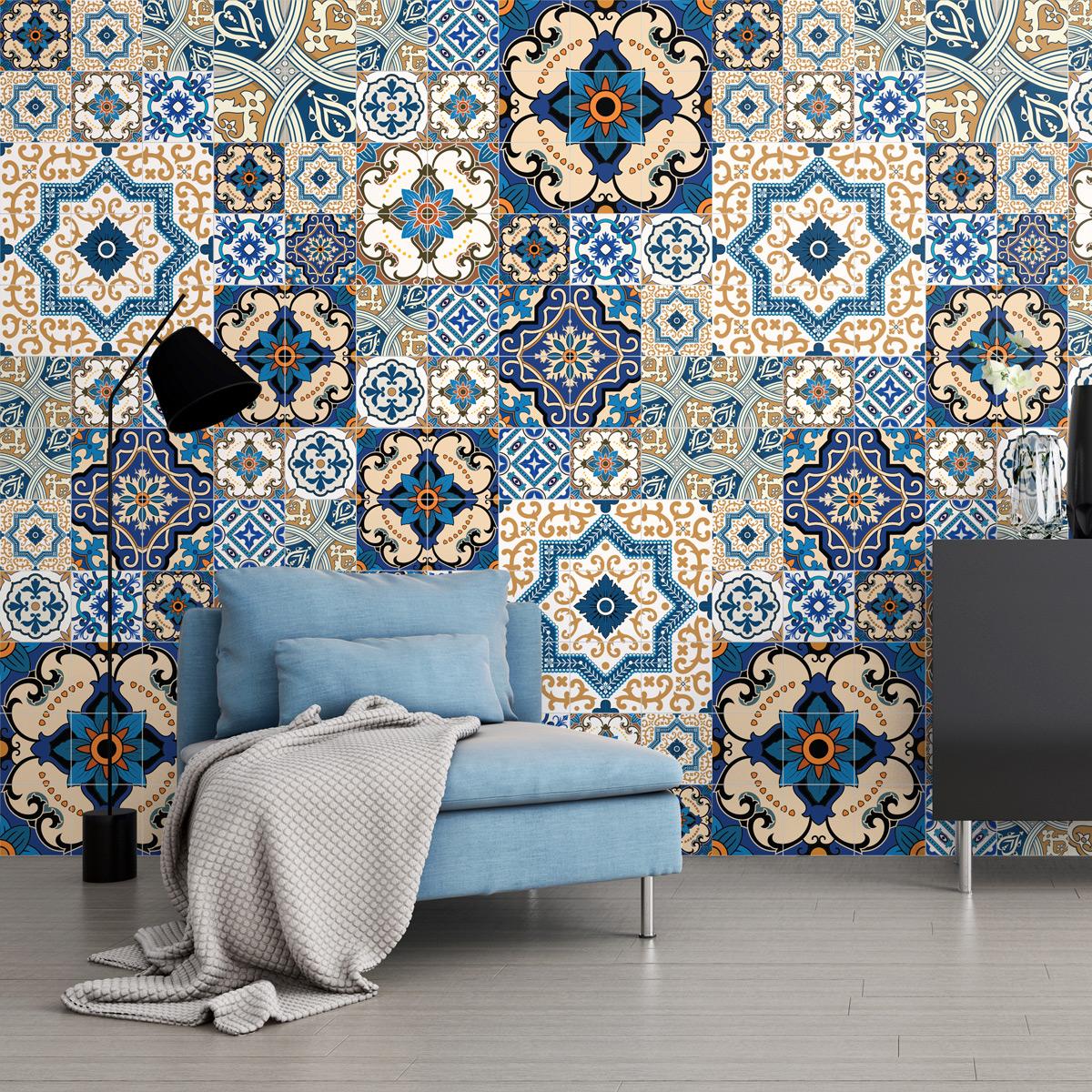 60 stickers carreaux de ciment toundra salle de bain et wc salle de bain ambiance sticker. Black Bedroom Furniture Sets. Home Design Ideas