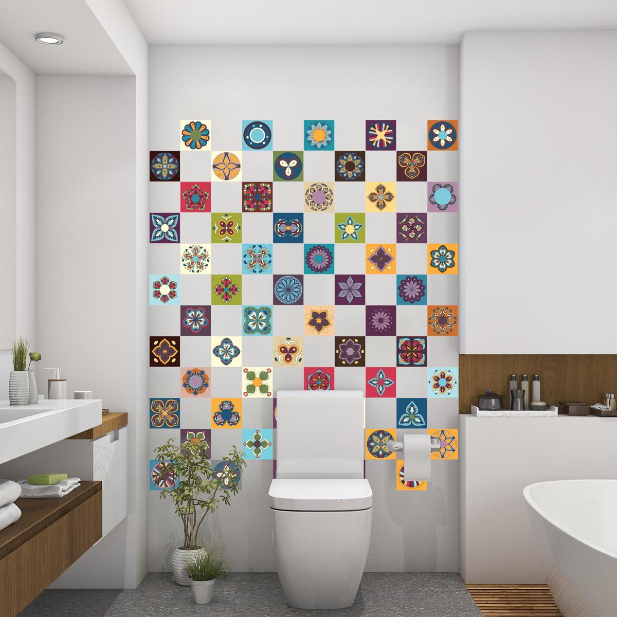 60 stickers carrelages azulejos Alicante - SALLE DE BAIN ET WC Salle de bain - Ambiance-sticker