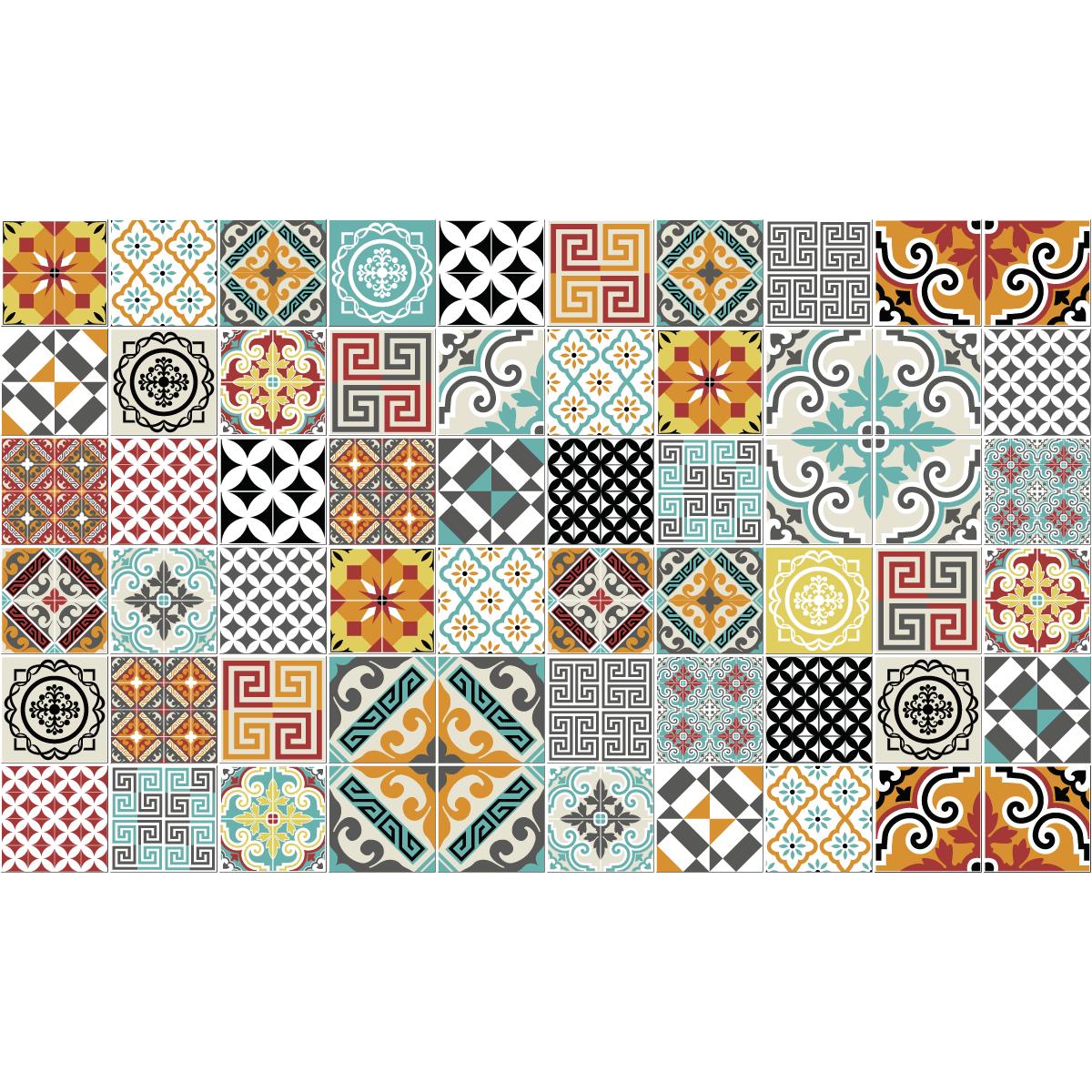 60 stickers carrelages azulejos batista cuisine carrelages ambiance sticker. Black Bedroom Furniture Sets. Home Design Ideas