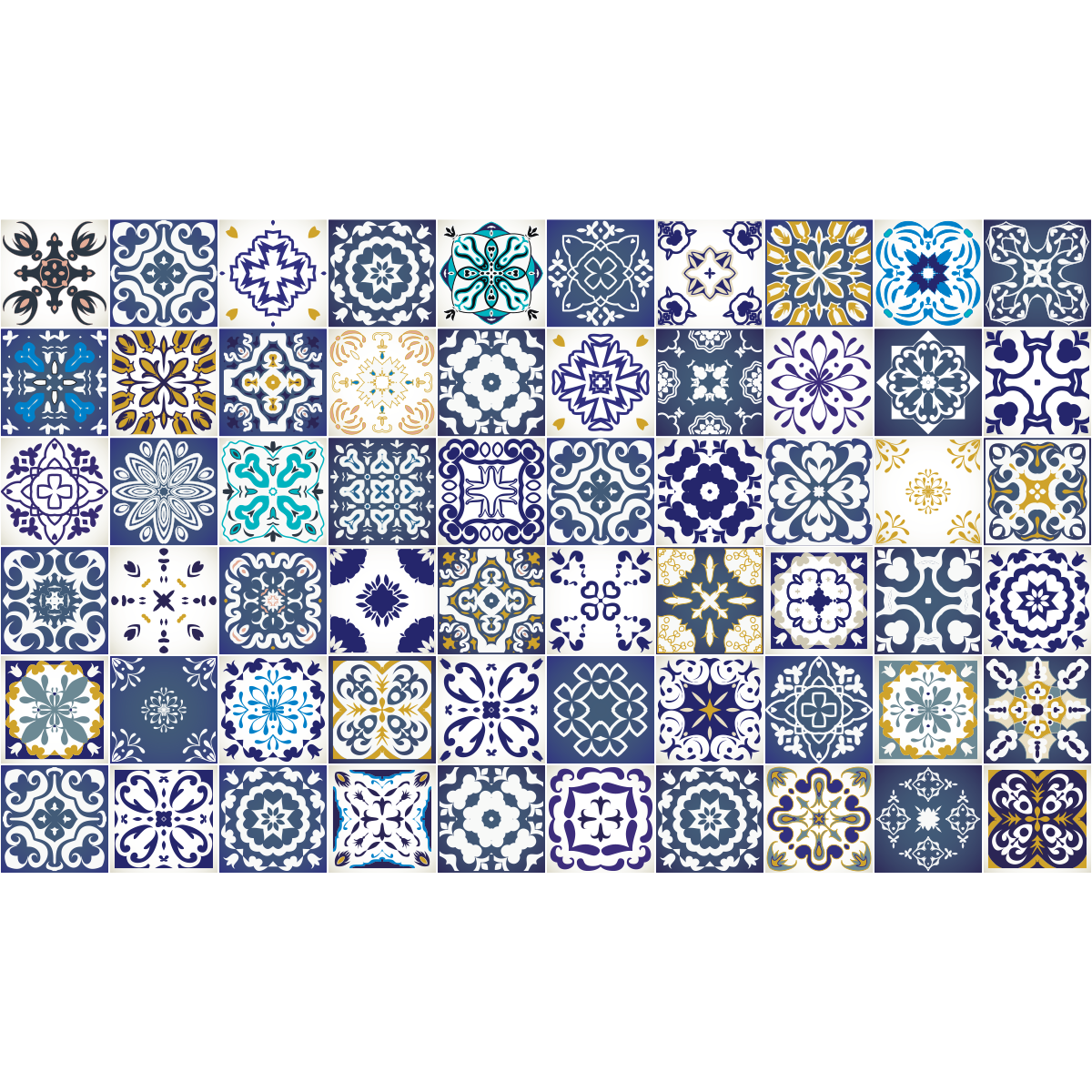 60 stickers carrelages azulejos cyprus salle de bain et wc salle de bain ambiance sticker. Black Bedroom Furniture Sets. Home Design Ideas