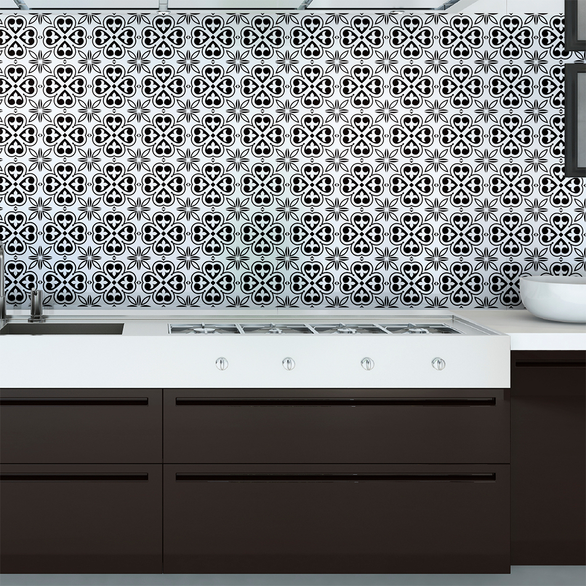 60 stickers carrelages azulejos dona cuisine carrelages. Black Bedroom Furniture Sets. Home Design Ideas