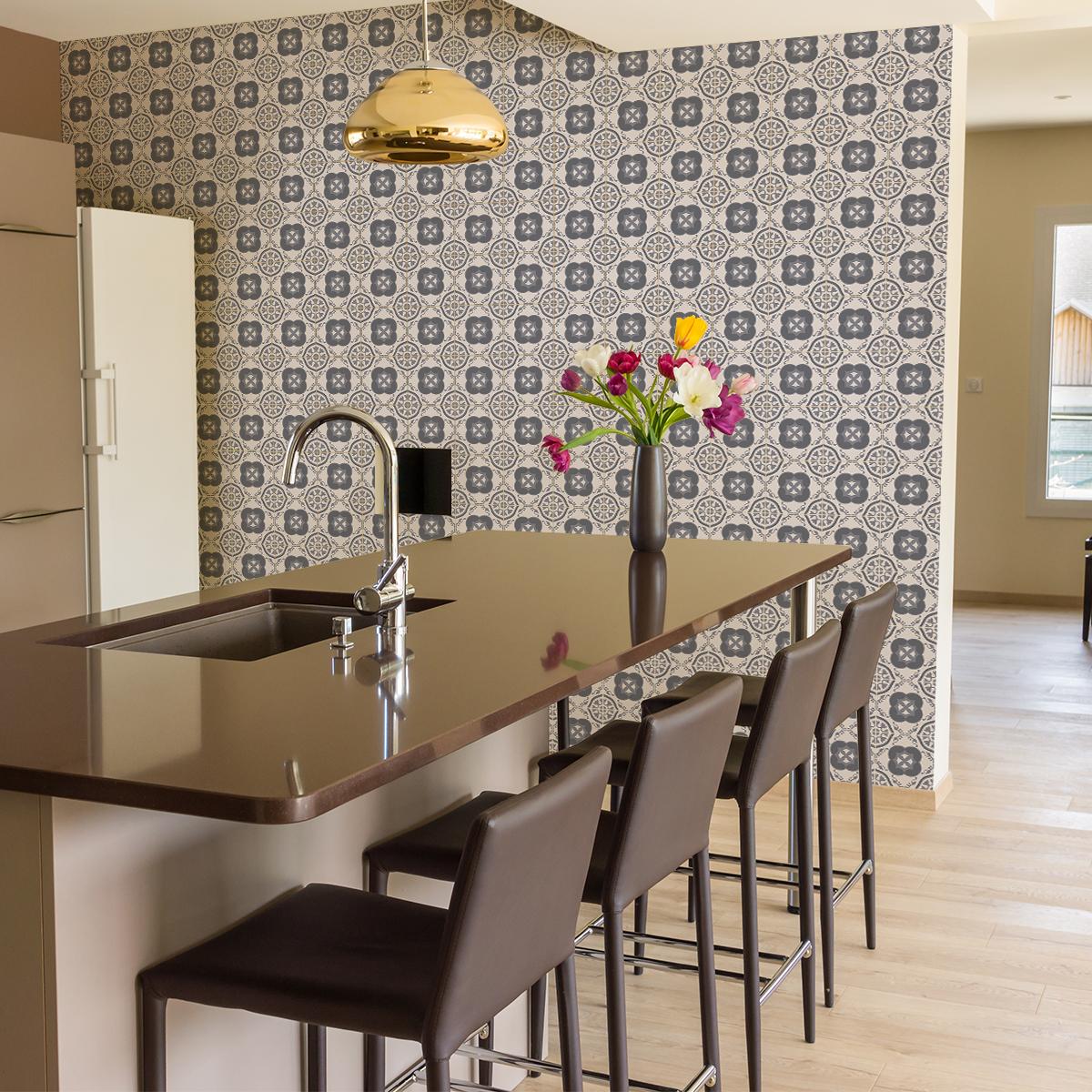 60 stickers carrelages azulejos eduardo cuisine - Stickers cuisine carrelage ...